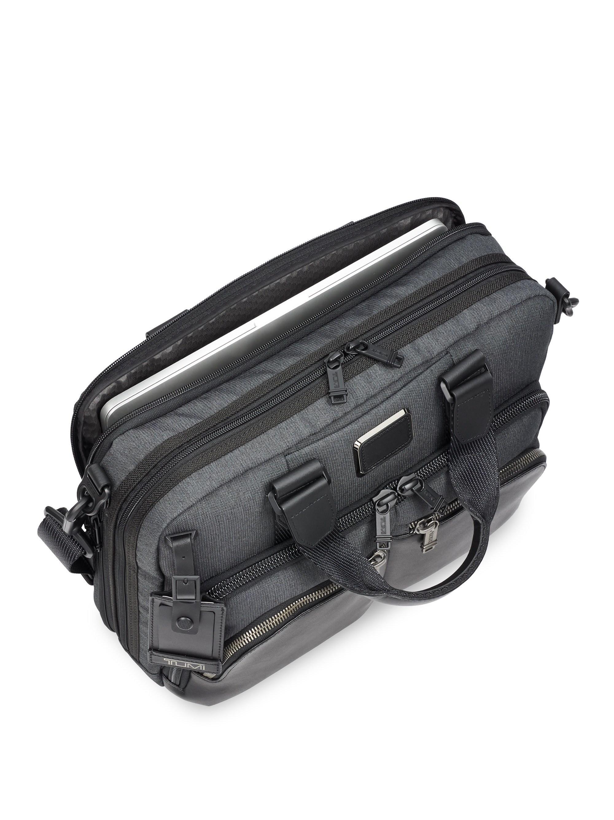 Tumi Alpha Bravo - Albany Slim Commuter Briefcase in Black for Men ... 3e6973dd1c