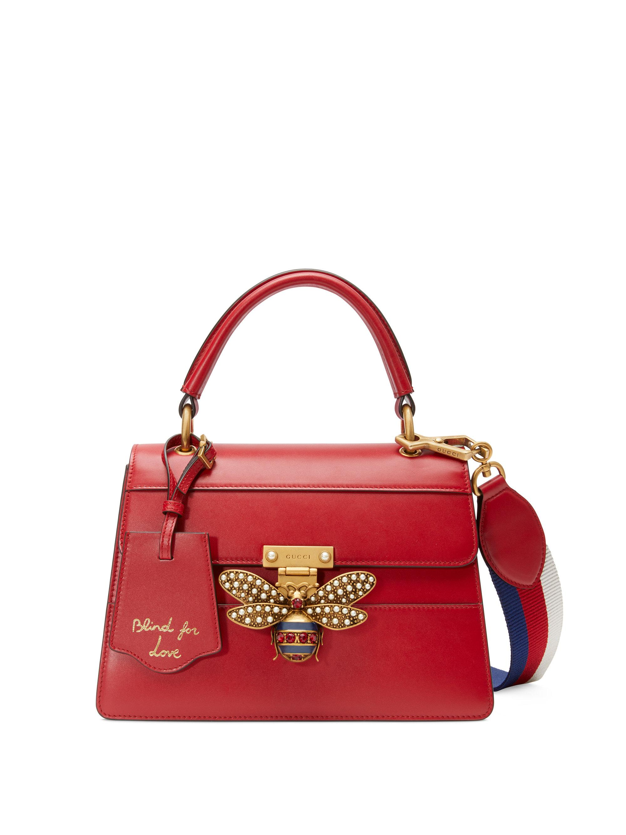 738b157f03e Gucci Queen Margaret Small Top Handle Bag in Red - Lyst