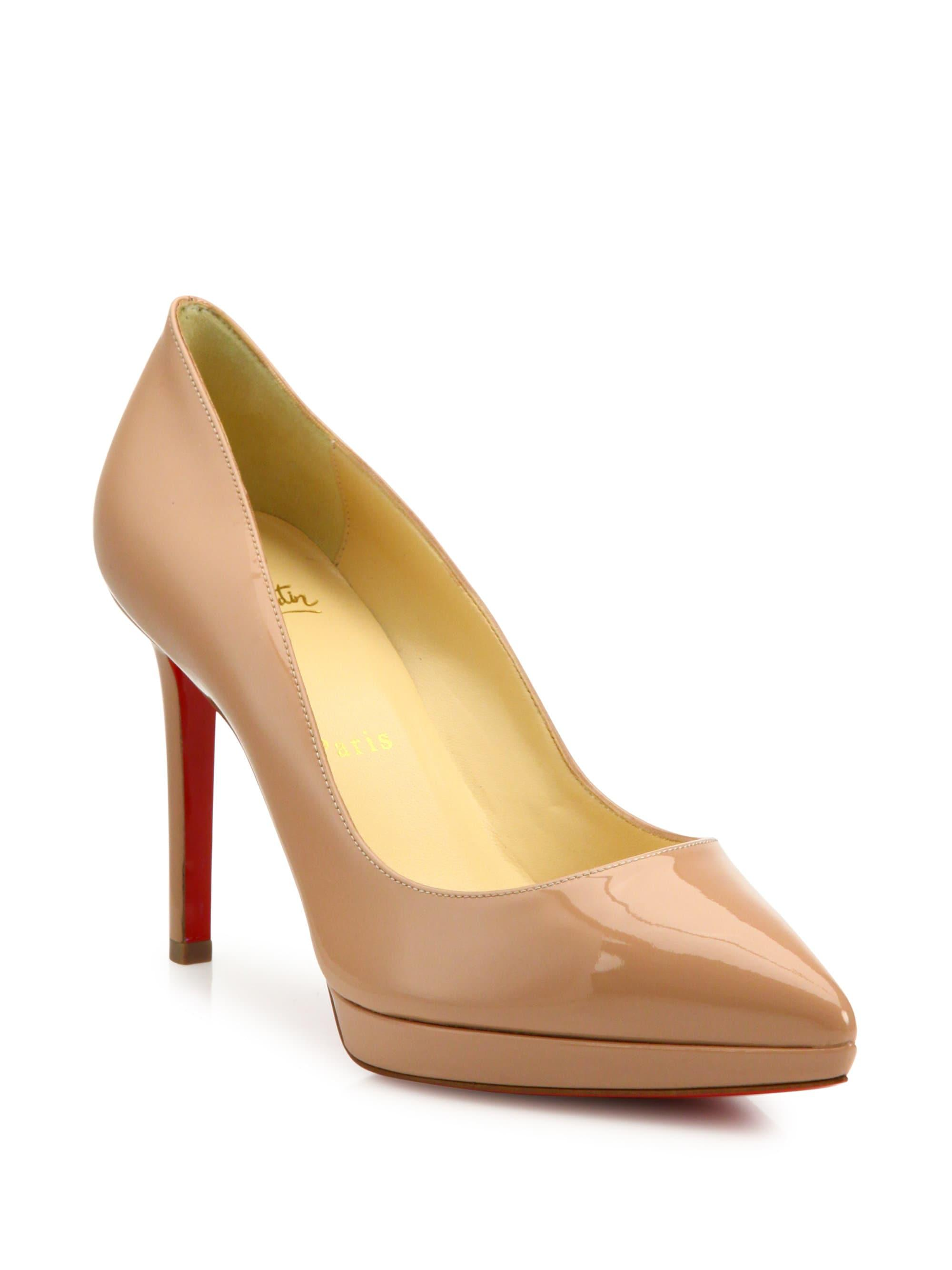 Christian Louboutin Women s Pigalle 100 Patent Leather Platform ... 7f353724fd