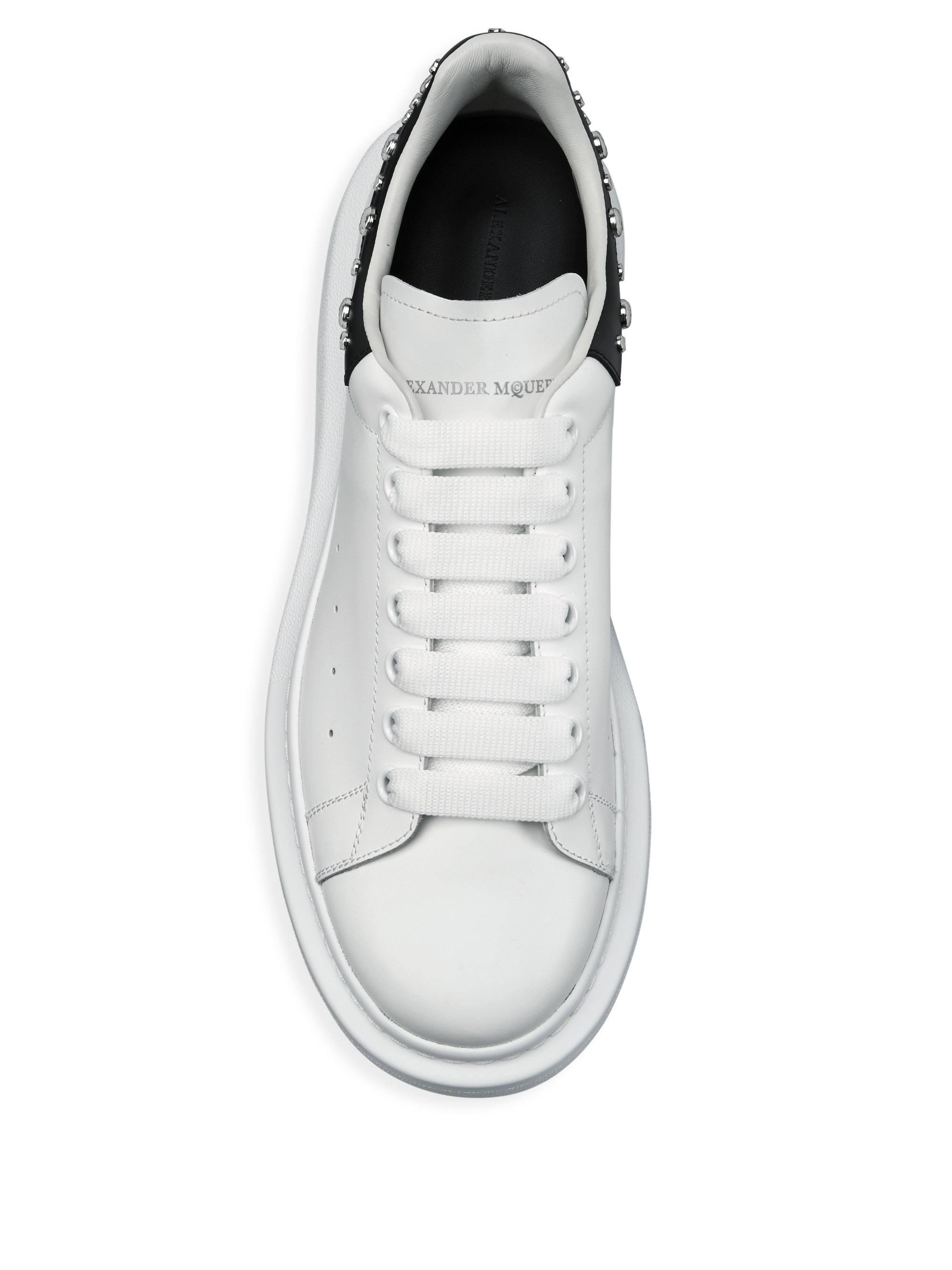 c44bb1b480b0 Lyst - Alexander Mcqueen Oversized Studded Leather Sneakers in White for Men