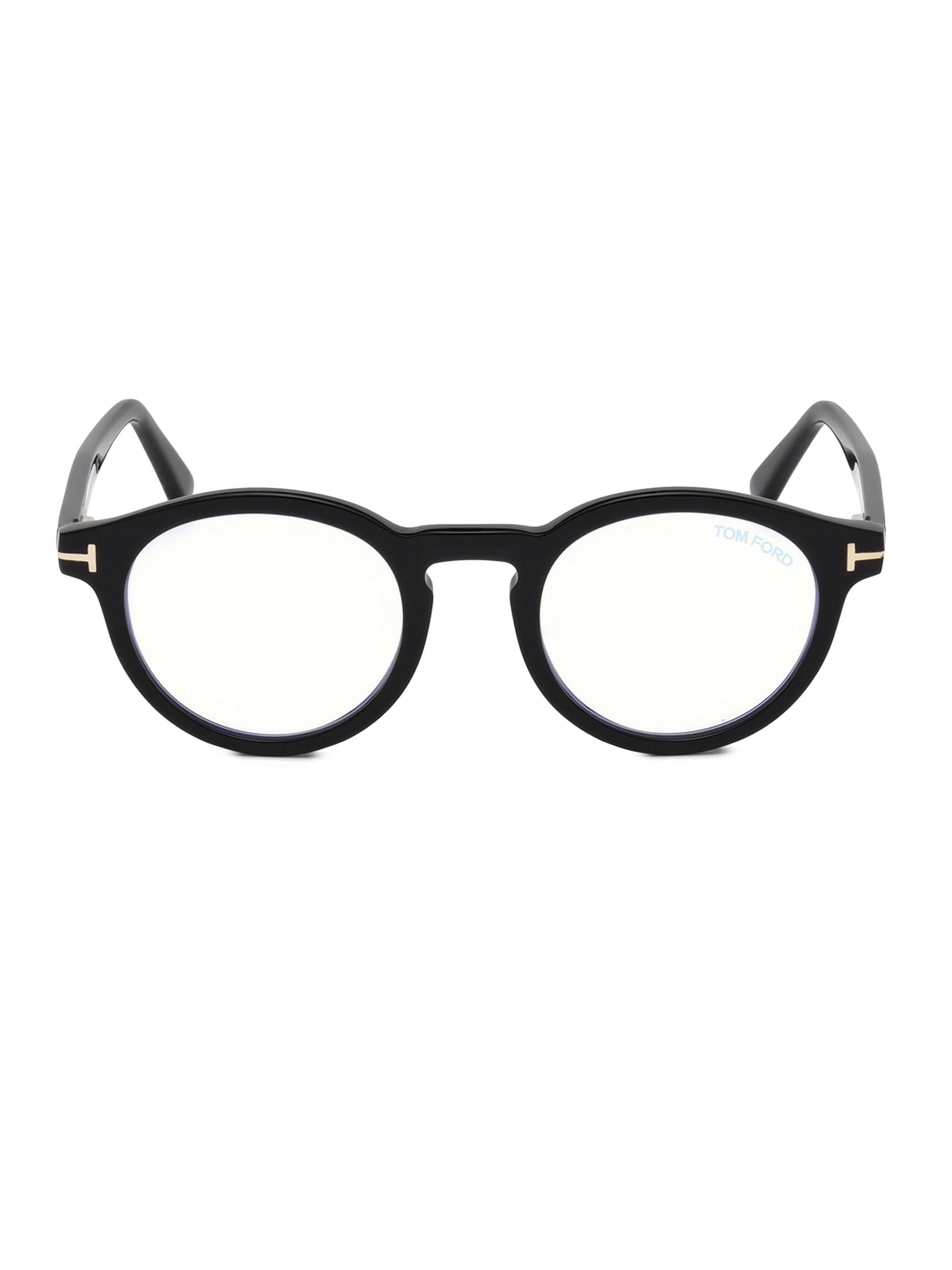4f7fdbadab2 Lyst - Tom Ford 48mm Round Optical Glasses in Black for Men - Save 7%