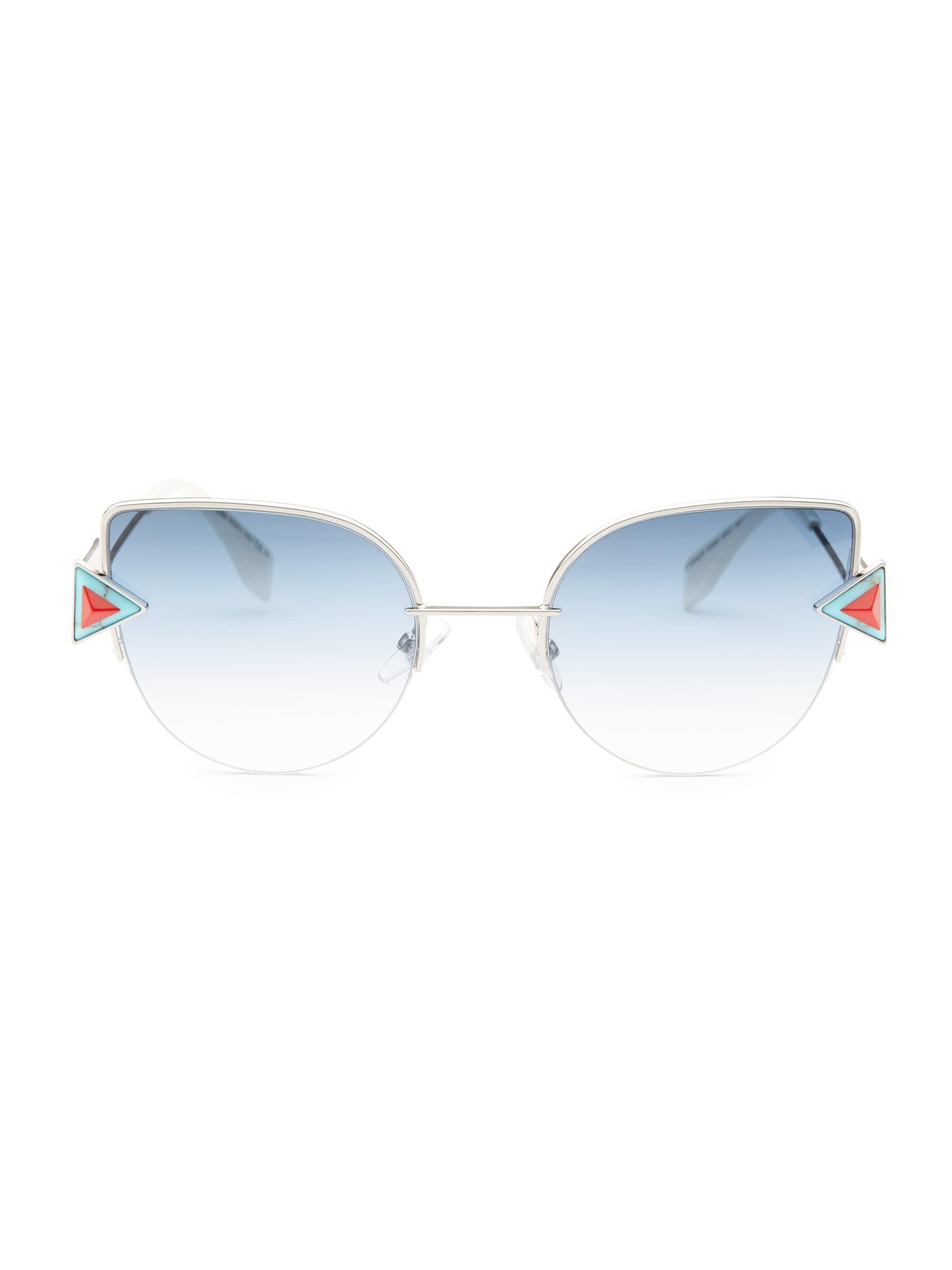 a2de633bbe Fendi Women s Rainbow 52mm Cat Eye Sunglasses - Blue in Blue - Lyst