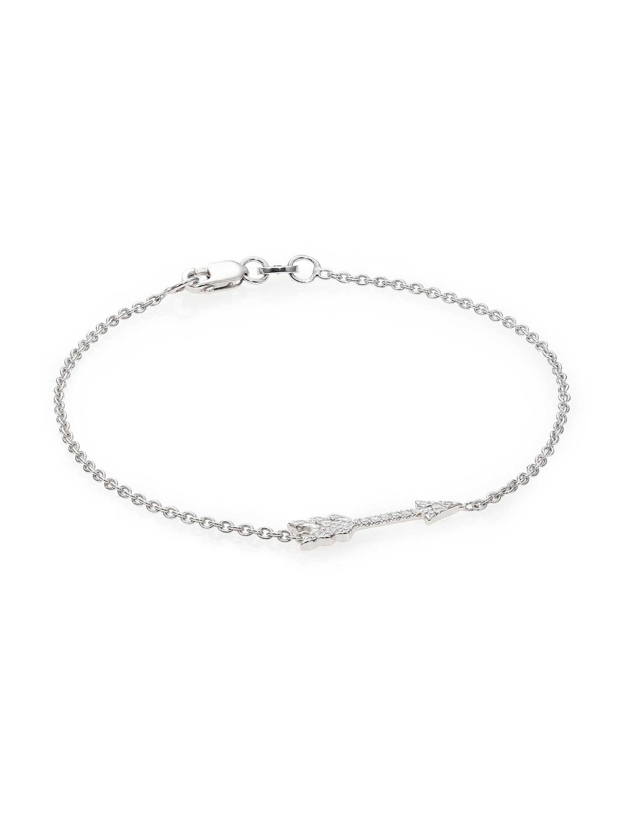 designer the fotor anklet diamond silver rose gold product sterling palkee img