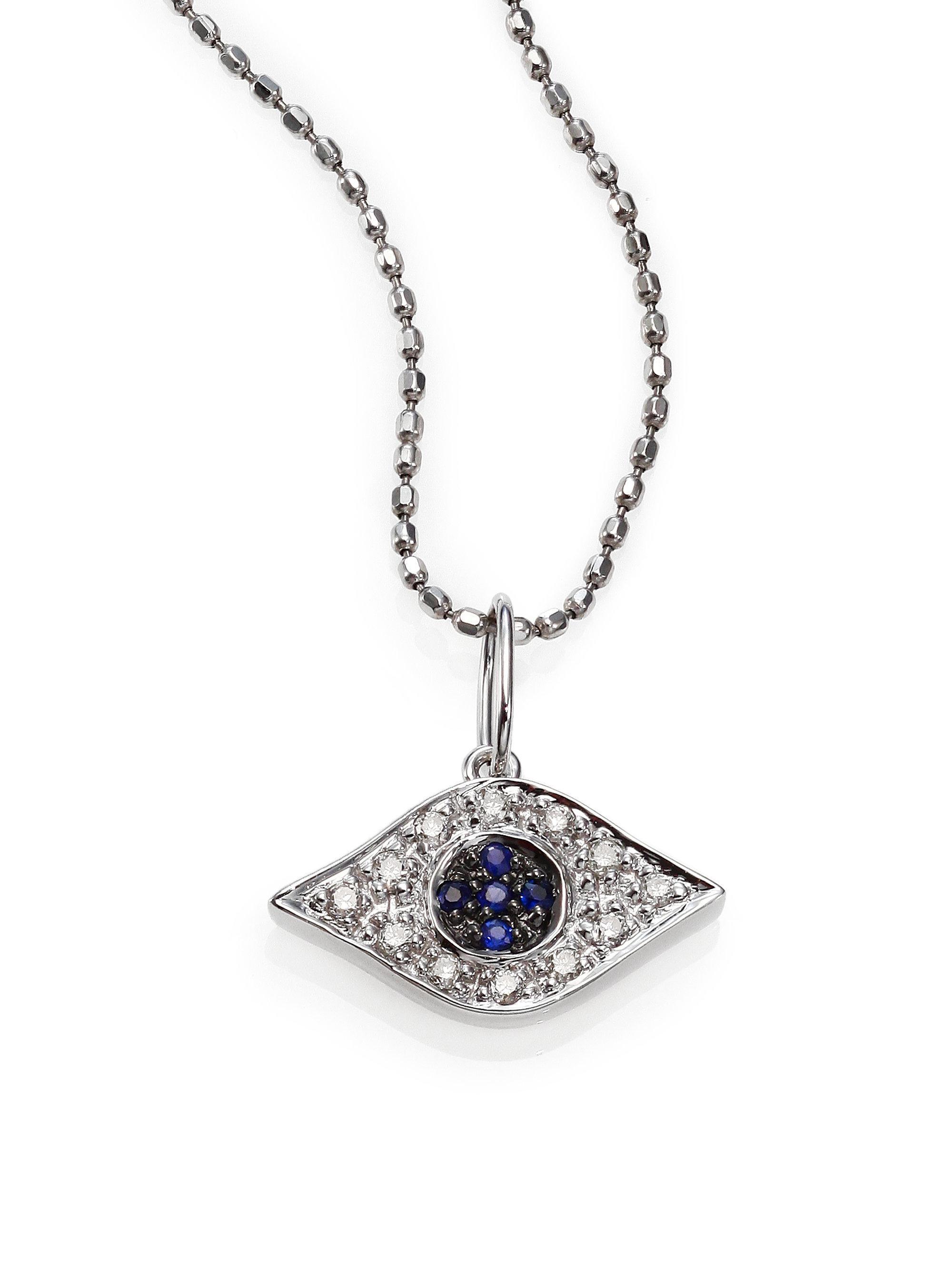 Sydney Evan Small Swivel Turquoise & Black Diamond Stone Evil Eye KaWVTx