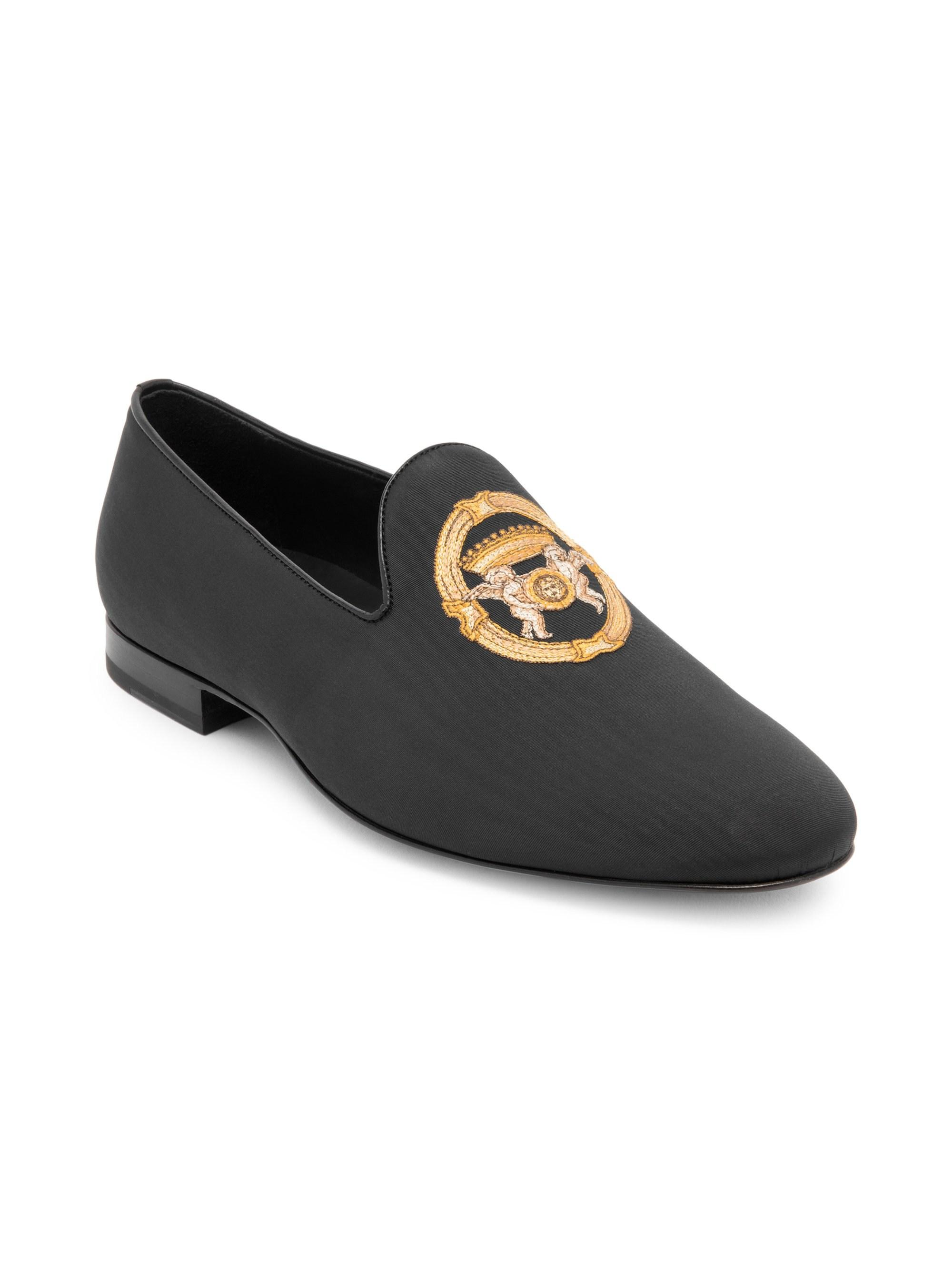 1a781e55003 Lyst - Versace Medusa Leather Loafers in Black for Men