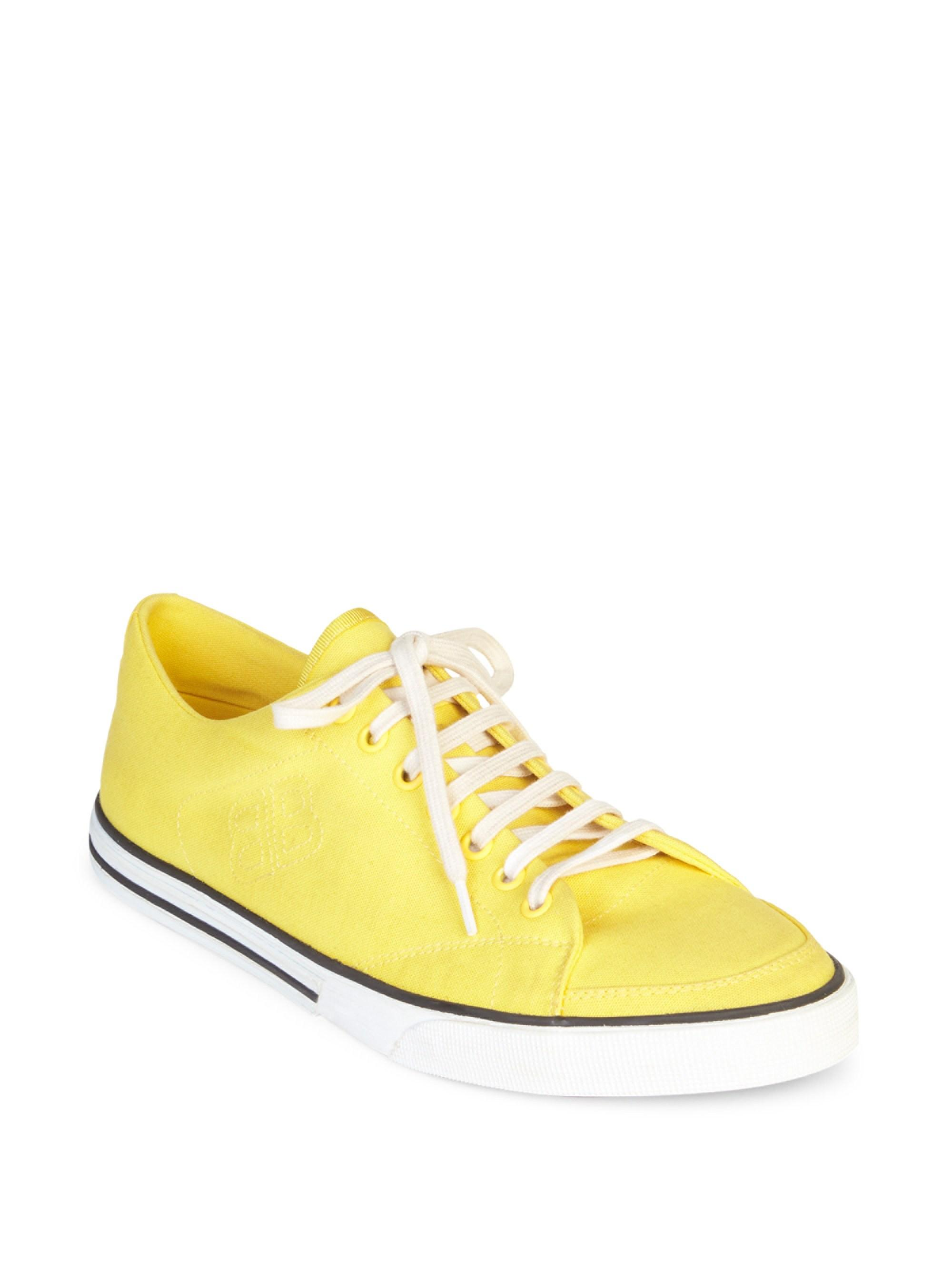 a1df098621d Balenciaga Canvas Logo Sole Sneakers in Yellow for Men - Lyst