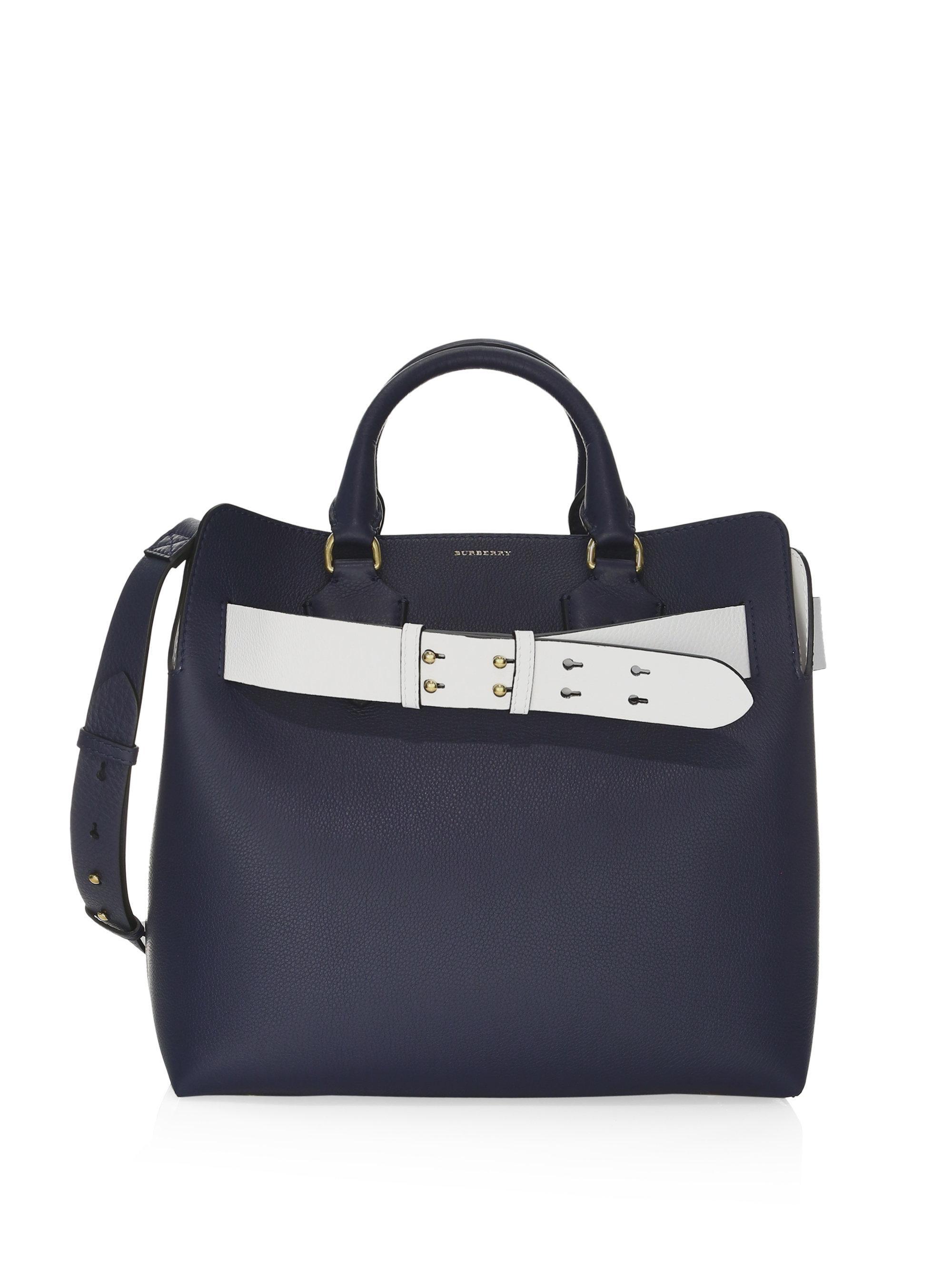 Belt Bag Medium in Mineral Grey Marais Leather Burberry Q8FKJS0zm