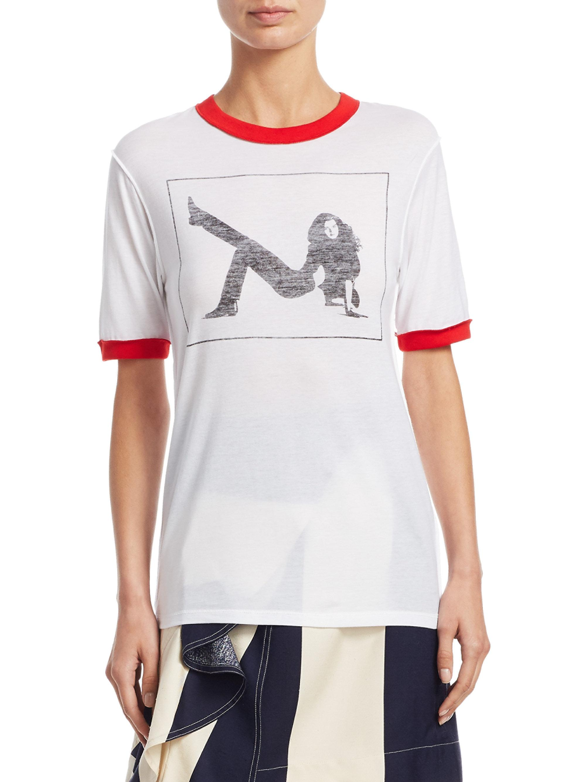Calvin Klein 205W39nyc Brooke Shields T-shirt Cheap Many Kinds Of RhjUV