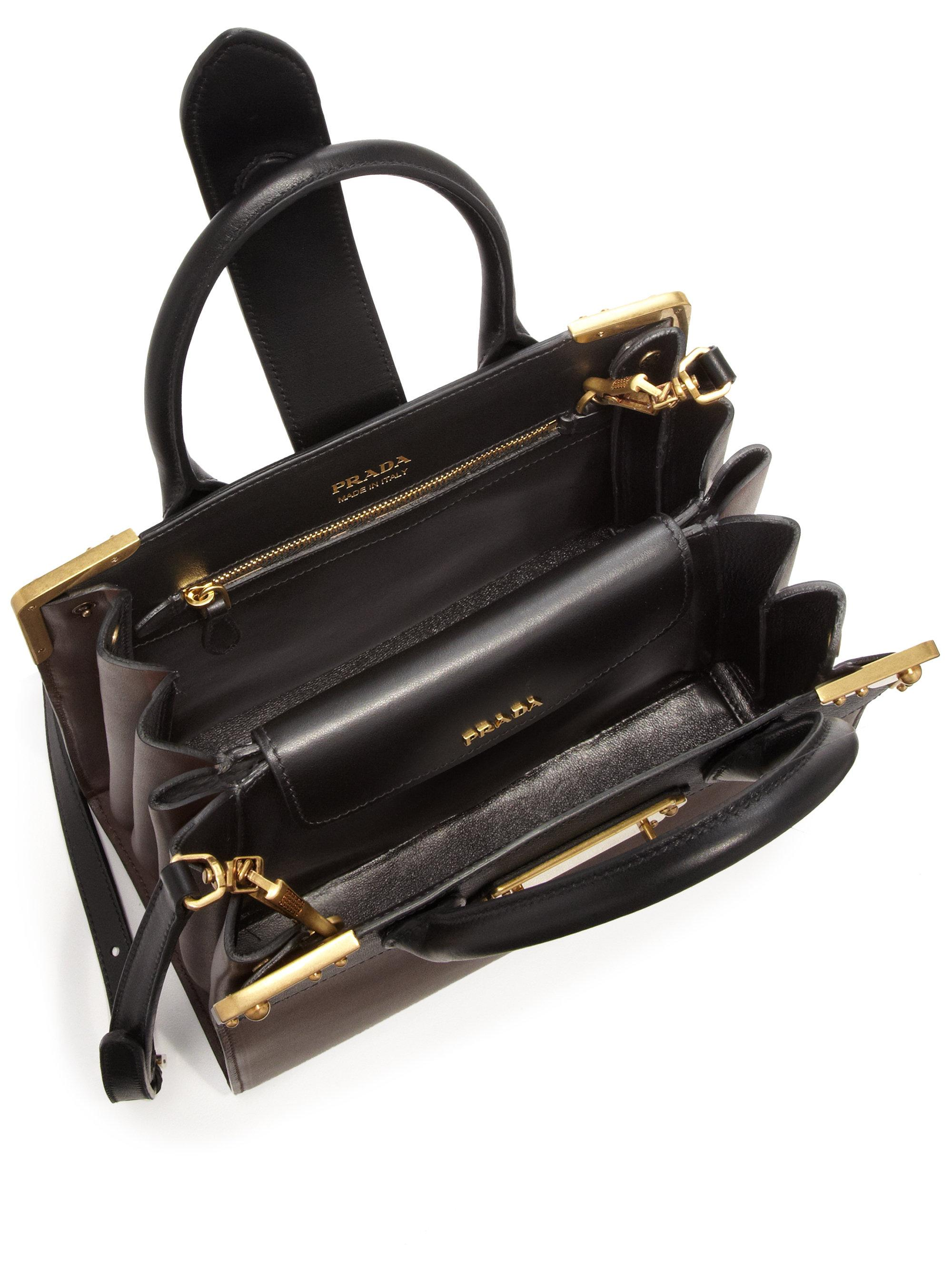 Lyst - Prada Leather Top-handle Accordion Tote 7a56d4e894
