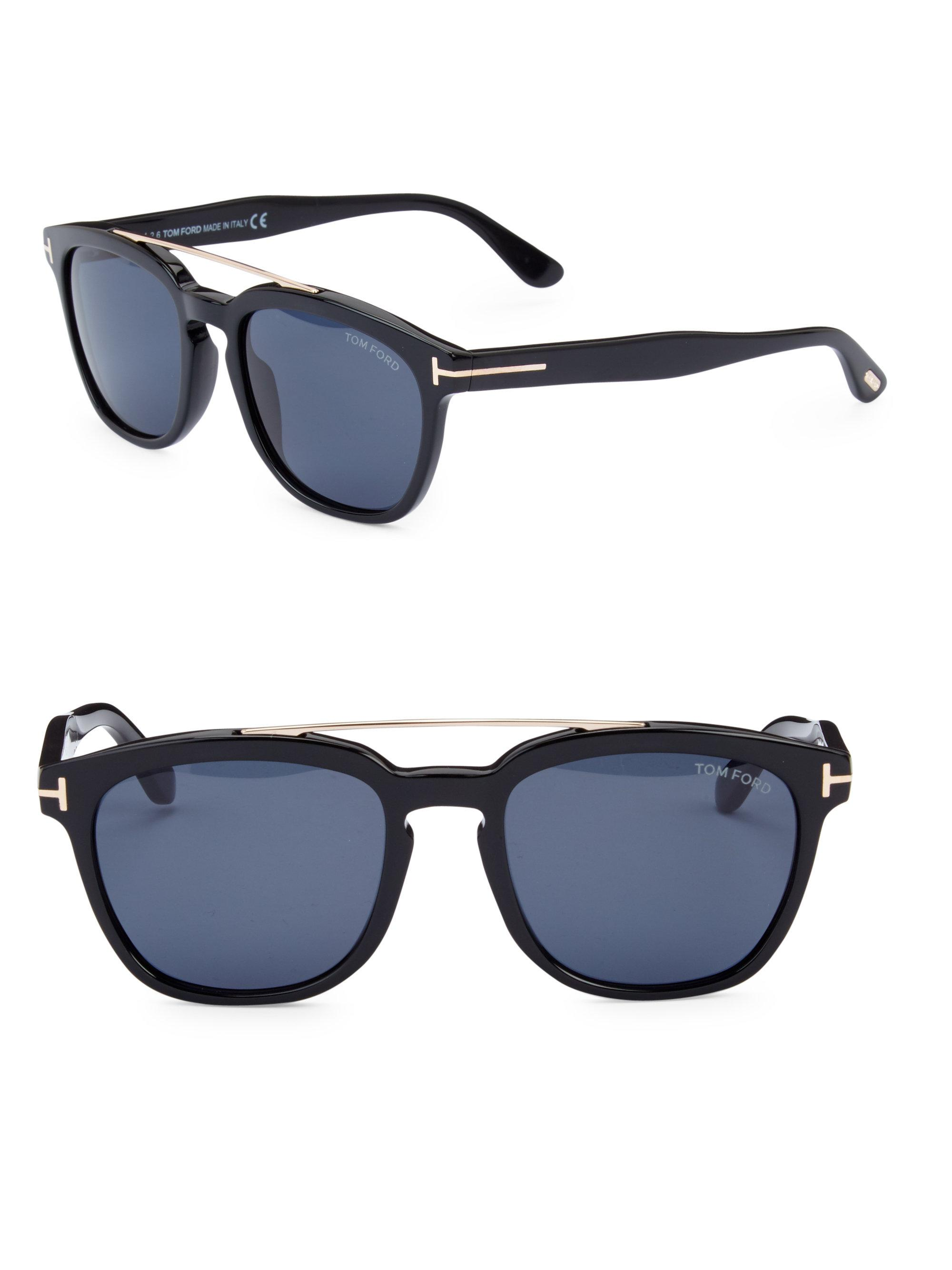 dbdcdc6cdacc4 Tom Ford Holt 54mm Square Sunglasses in Black for Men - Lyst
