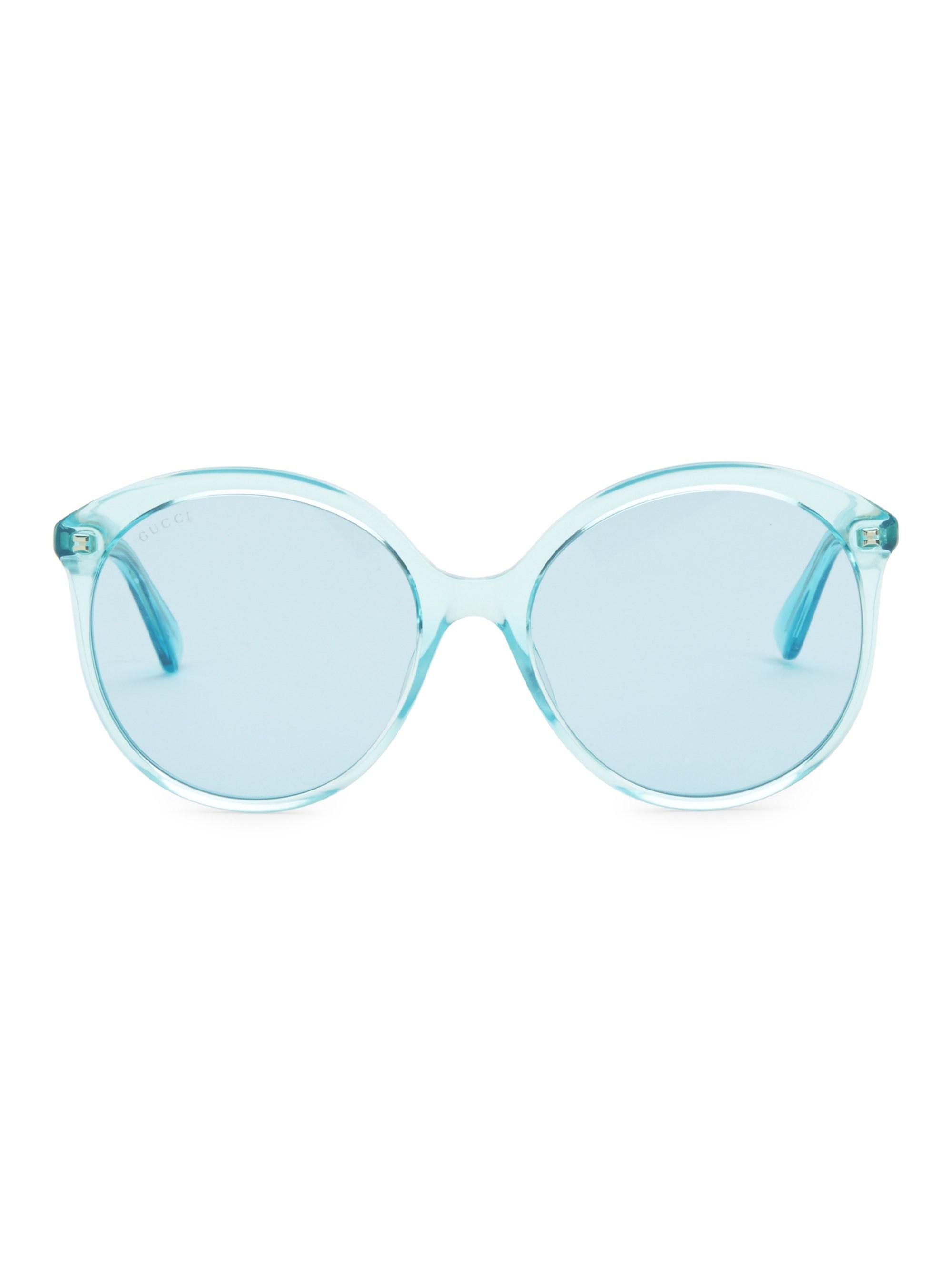 9365c4be9b9 Lyst - Gucci Women s 59mm Round Sunglasses - Azure in Blue