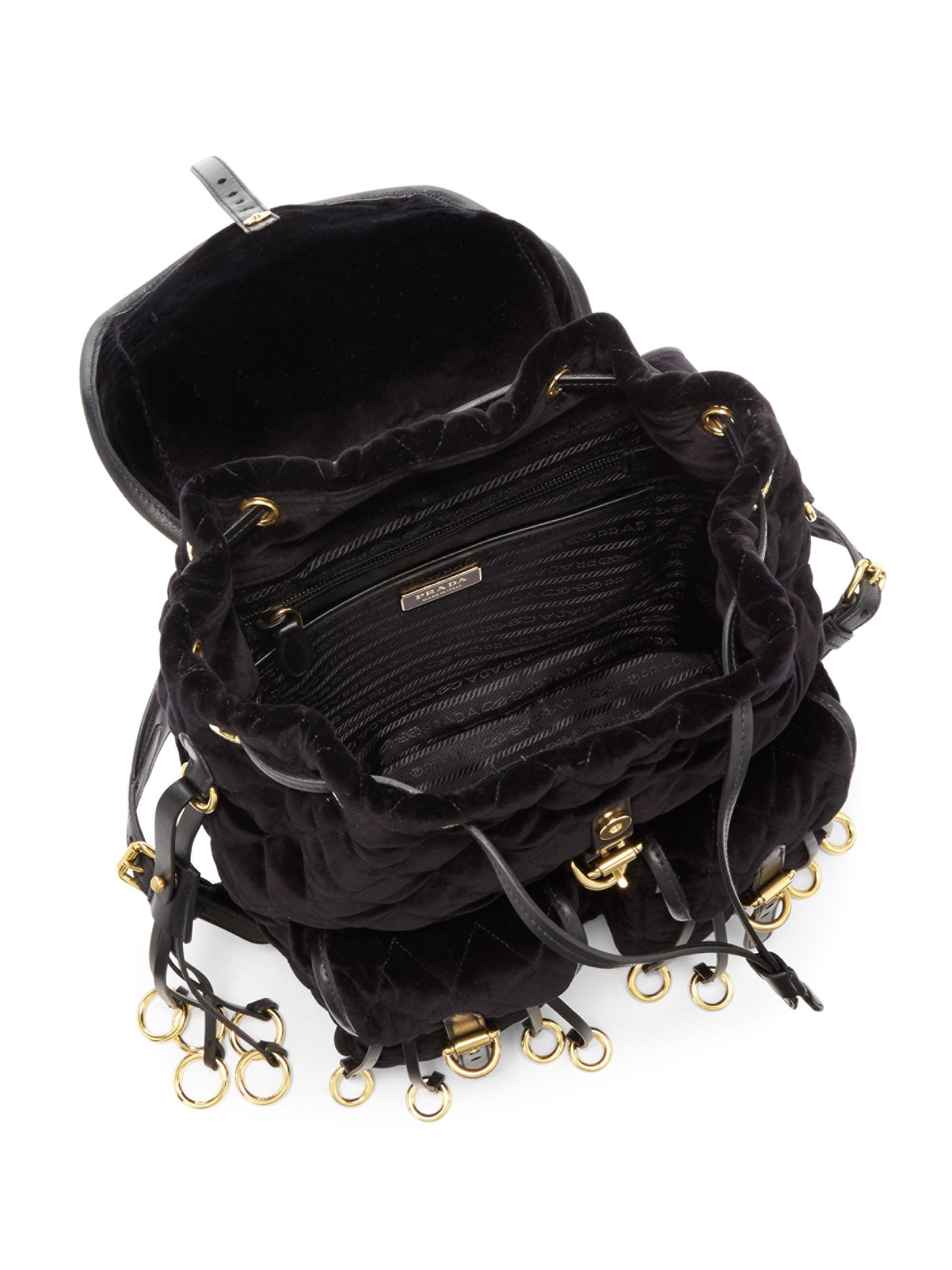 Prada Velvet Backpack