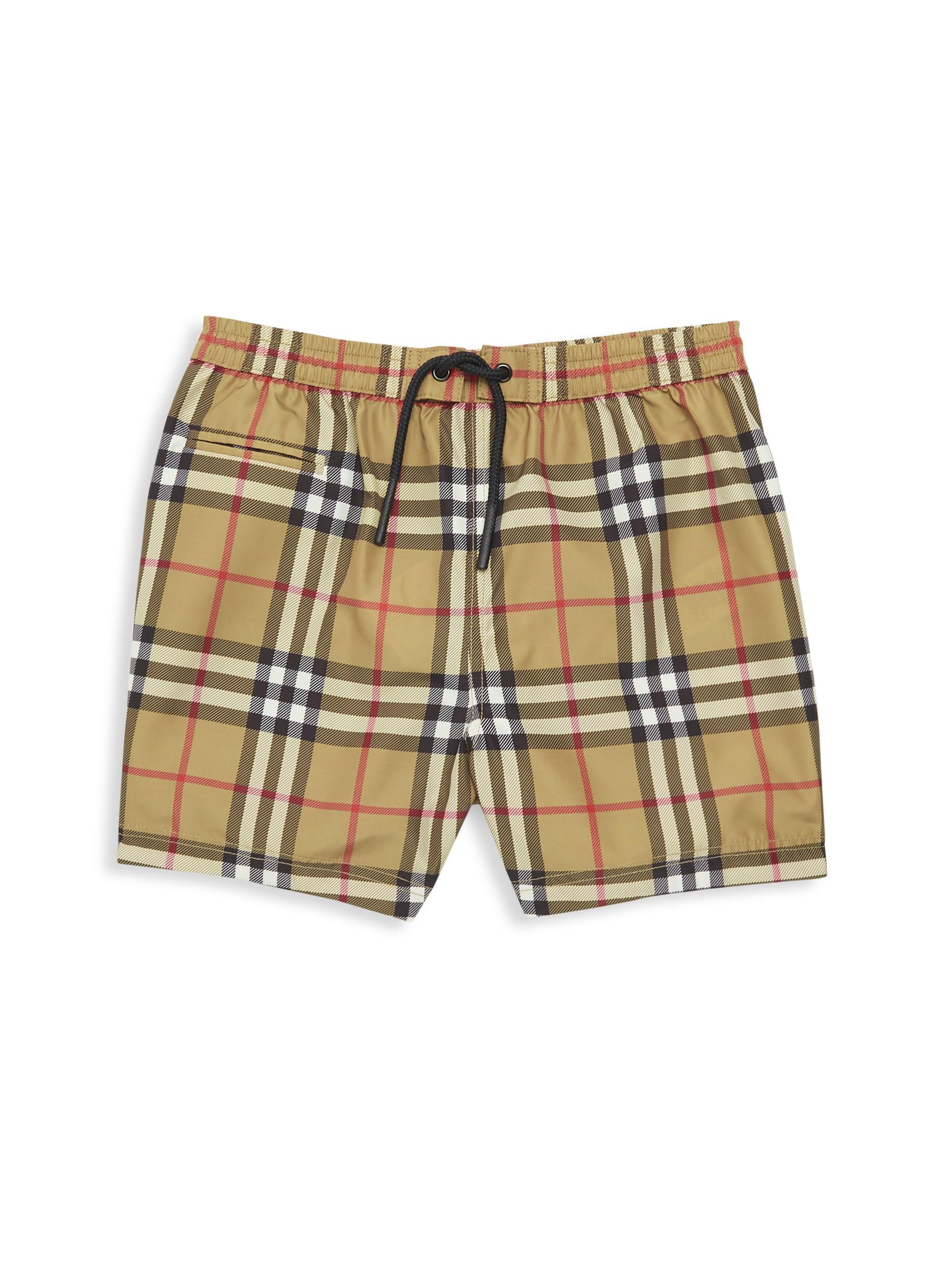 f049158910 Burberry. Men's Baby Boy's & Little Boy's Galvin Check Shorts - Antique ...
