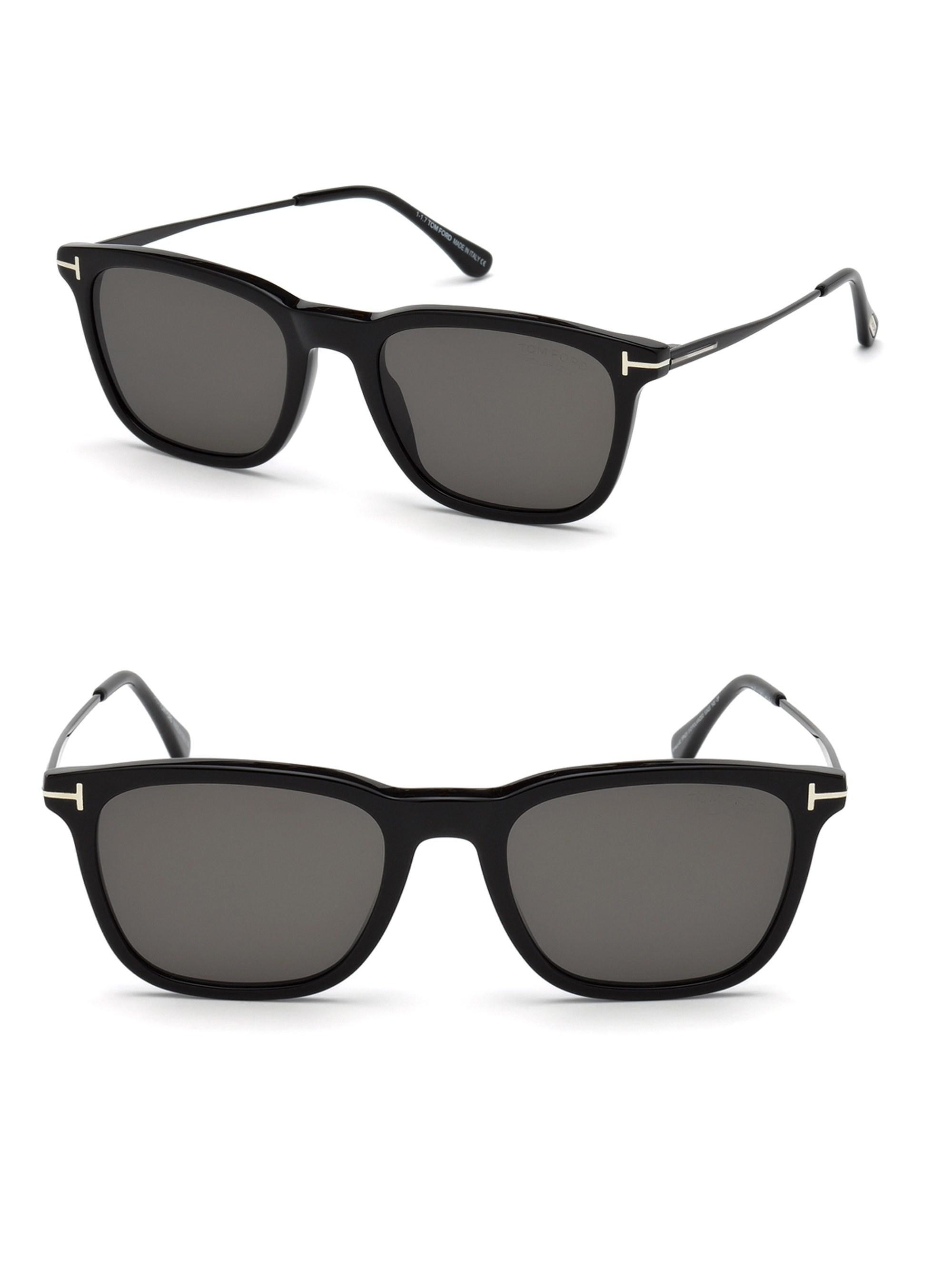 9ad03320f10 Tom Ford - Black 53mm Geometric Square Sunglasses for Men - Lyst. View  fullscreen
