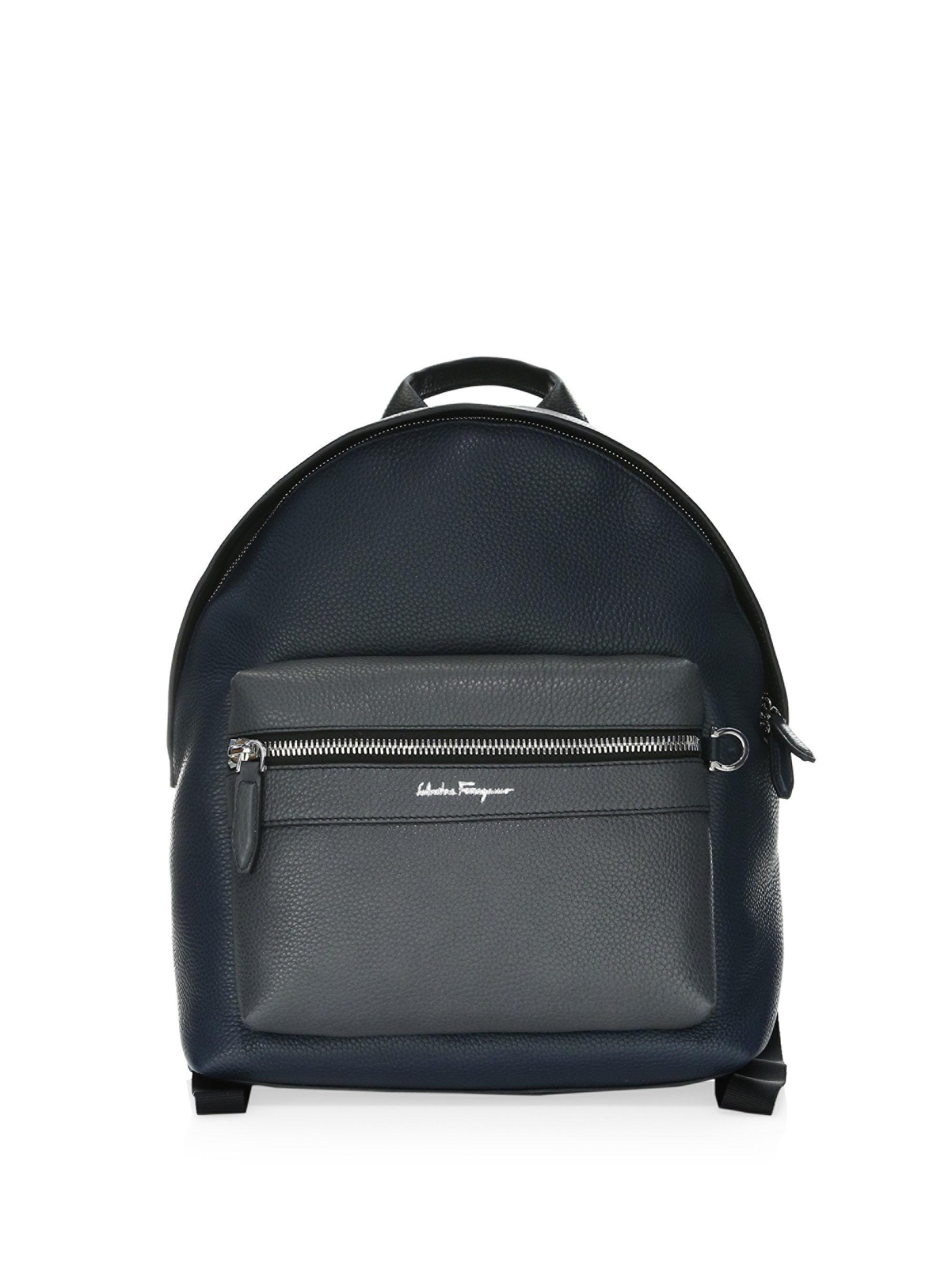 Ferragamo Firenze Colorblock Leather Backpack in Black for Men - Lyst b8a66ead740fb