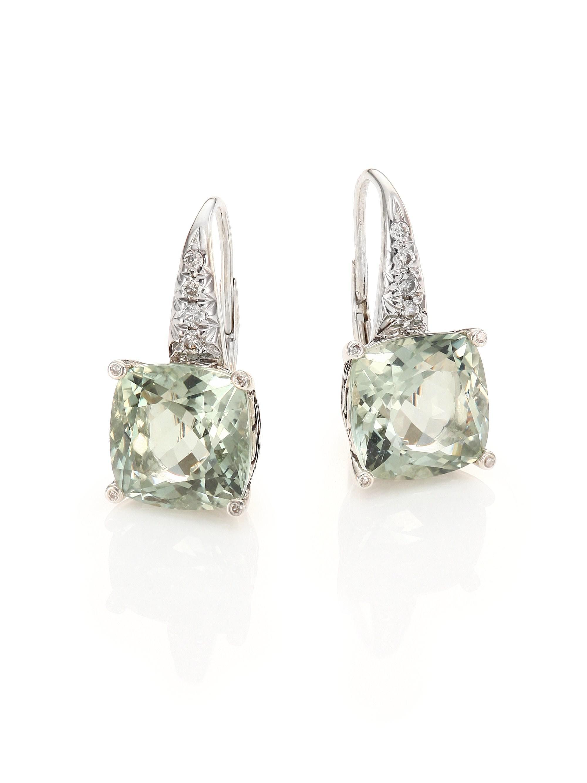 Lyst John Hardy Classic Chain Batu Diamond Prasiolite
