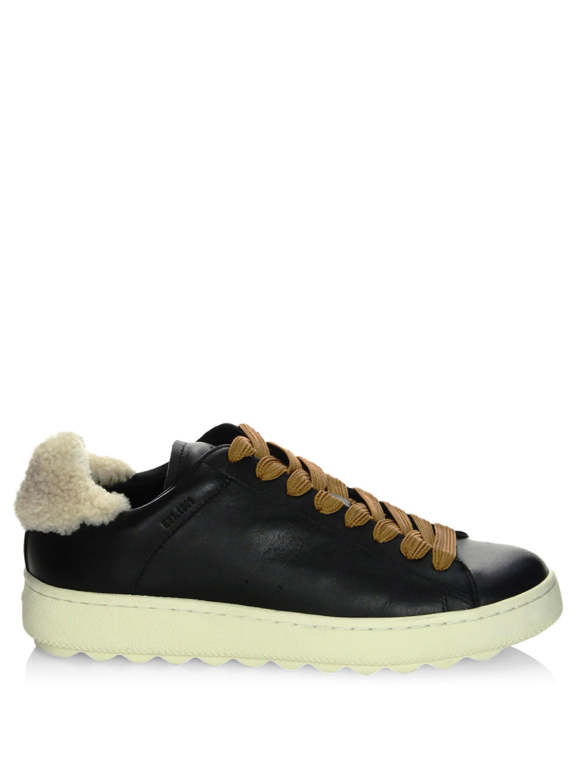 CoachShearling Tab Sneakers Likk1azyc3