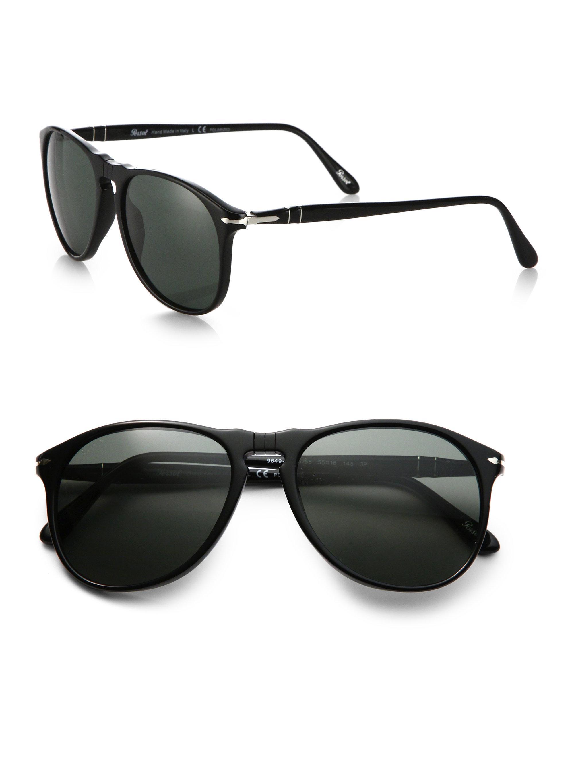 f97cf8376a81a Lyst - Persol 55mm Suprema Round Sunglasses in Black for Men