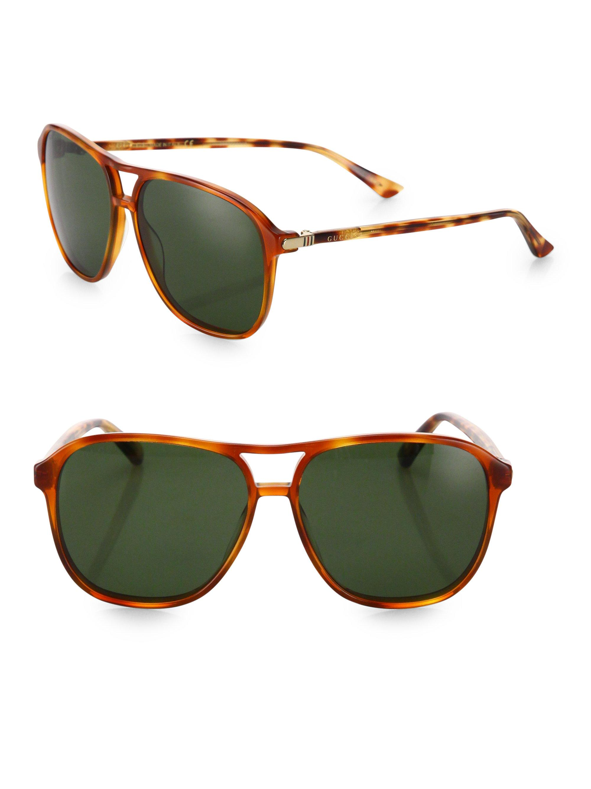 e785a4f5e58 Lyst - Gucci 58mm Square Pilot Sunglasses for Men