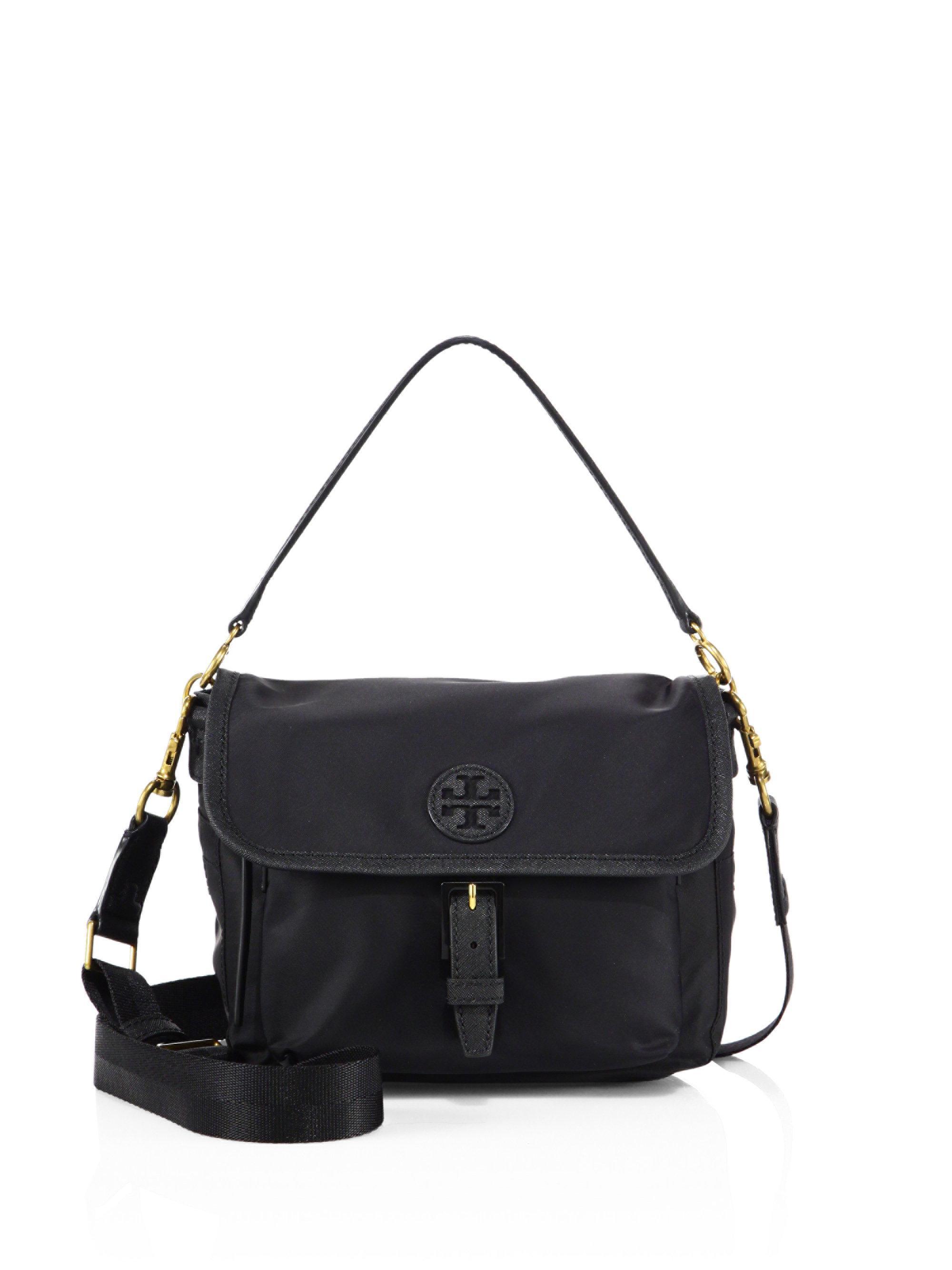 53f93616080 Lyst - Tory Burch Scout Nylon Crossbody Bag in Black