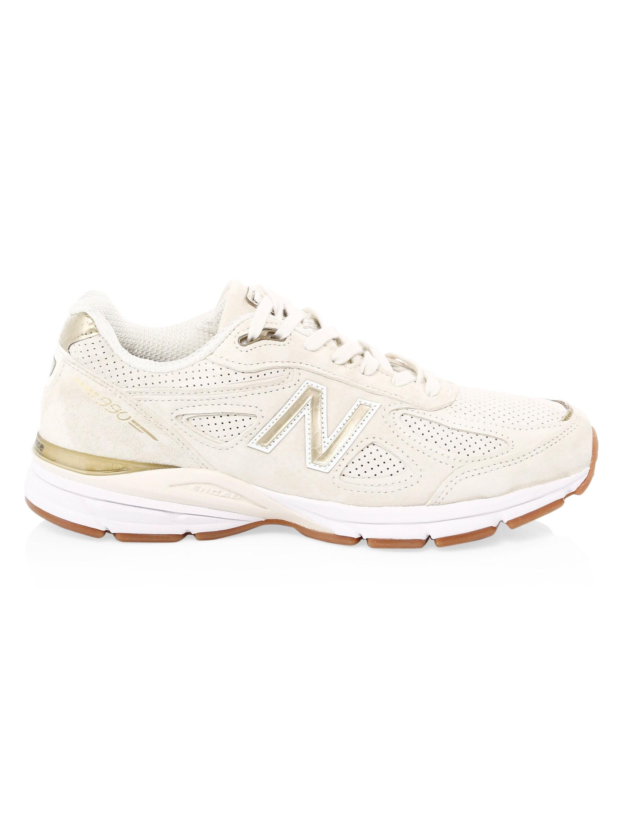 fc2469b1746e4 New Balance Men's 990 Suede & Mesh Sneakers - Angora for Men - Lyst