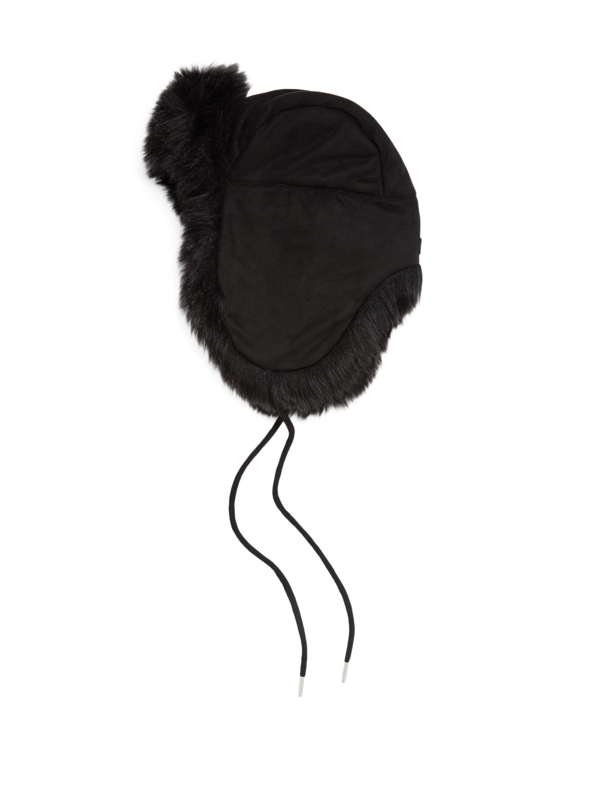 32137863f61 Charlotte Simone Women s Faux Fur Trapper Hat - Black in Black - Lyst