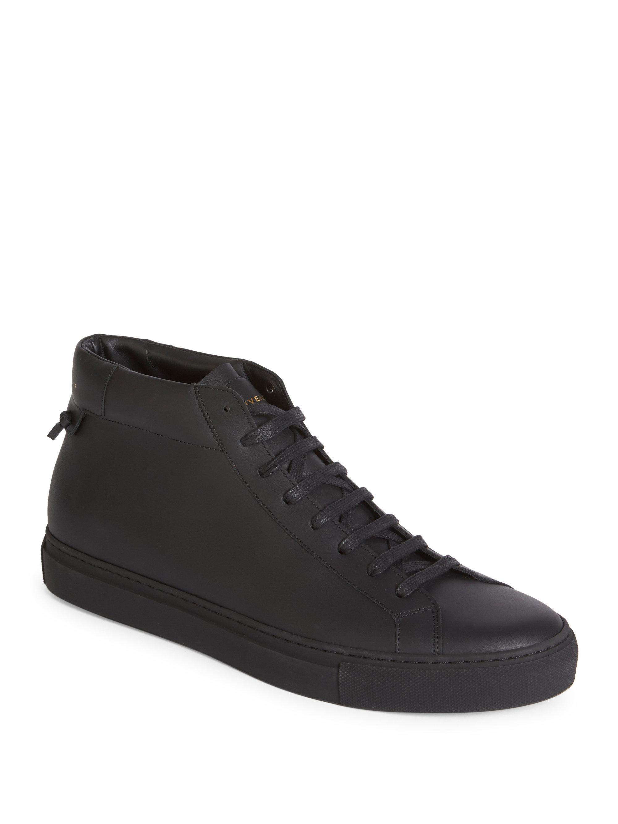 Lyst Givenchy Urban Street Leather Mid Top Sneakers In