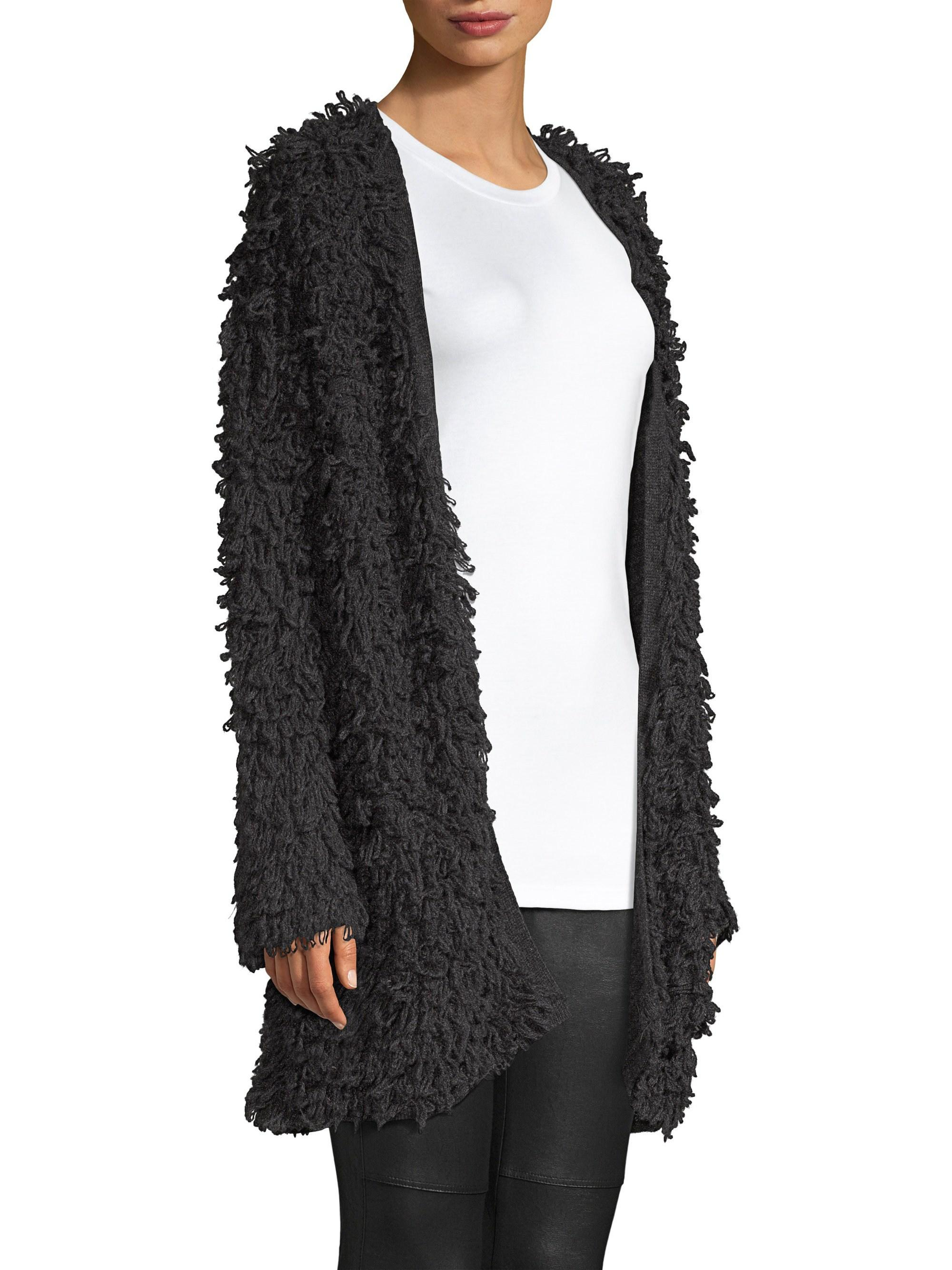 68e8482d389a Lyst - Splendid Phoenix Open Front Sweater in Black