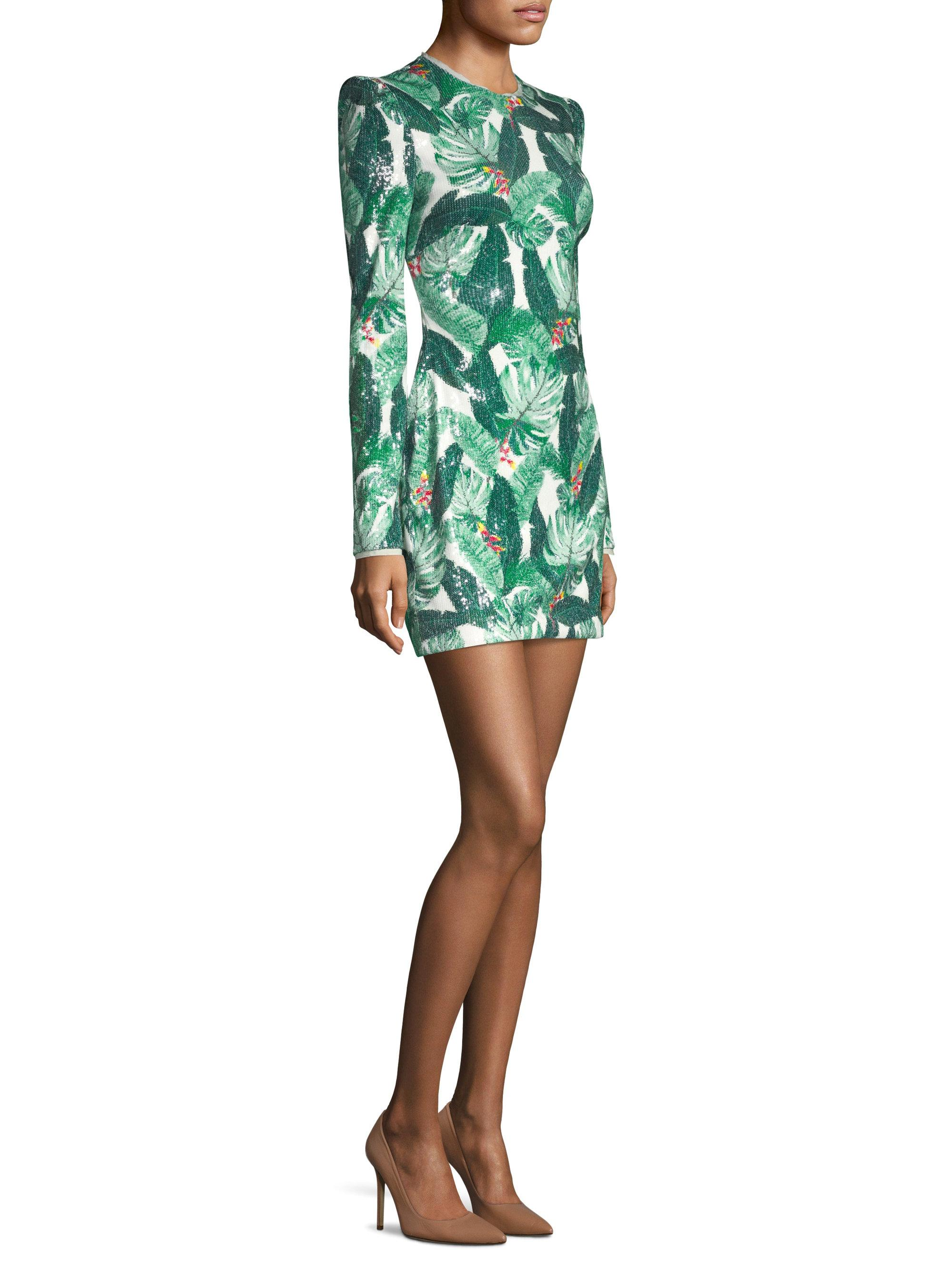 Amelia Sequined Crepe Mini Dress - Green Rachel Zoe Limited Edition Online Clearance Inexpensive Clearance 2018 New Cheap Shop Offer ZhTqqoaA5