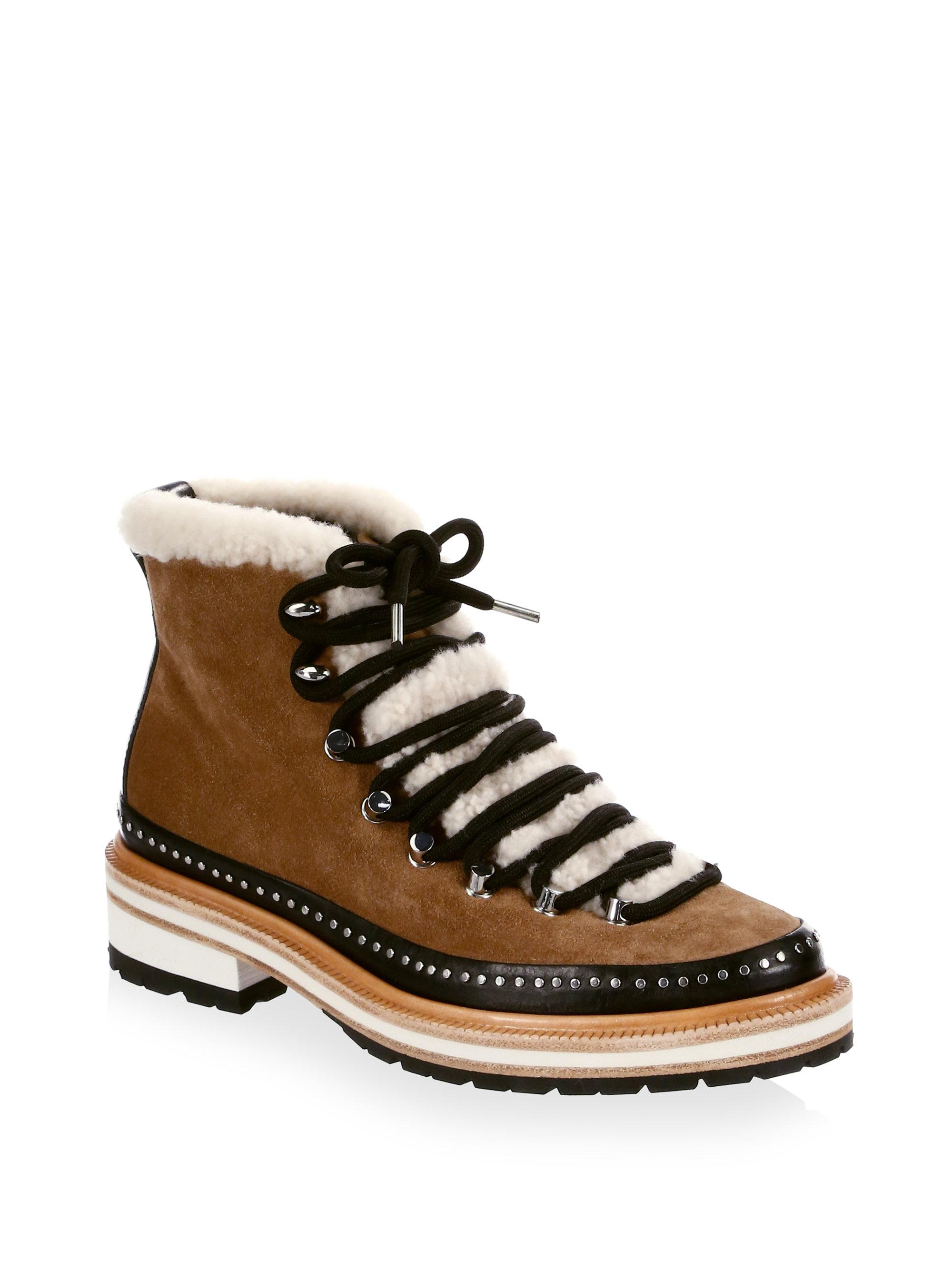 Rag and Bone Rag & Bone Brown Suede & Shearling Compass Boots Jeu Geniue Stockiste ETRX5A