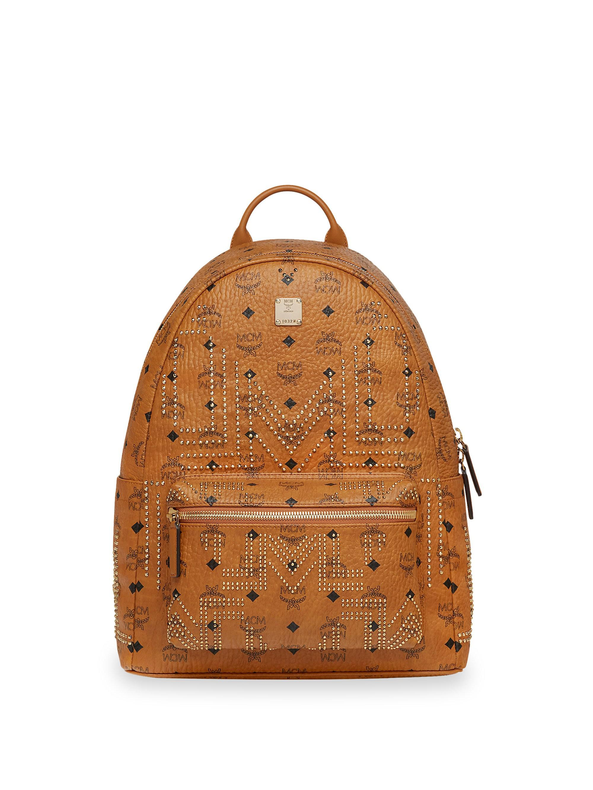 47c826d8fb3 MCM - Brown Medium Stark Gunta Studded Backpack for Men - Lyst. View  fullscreen