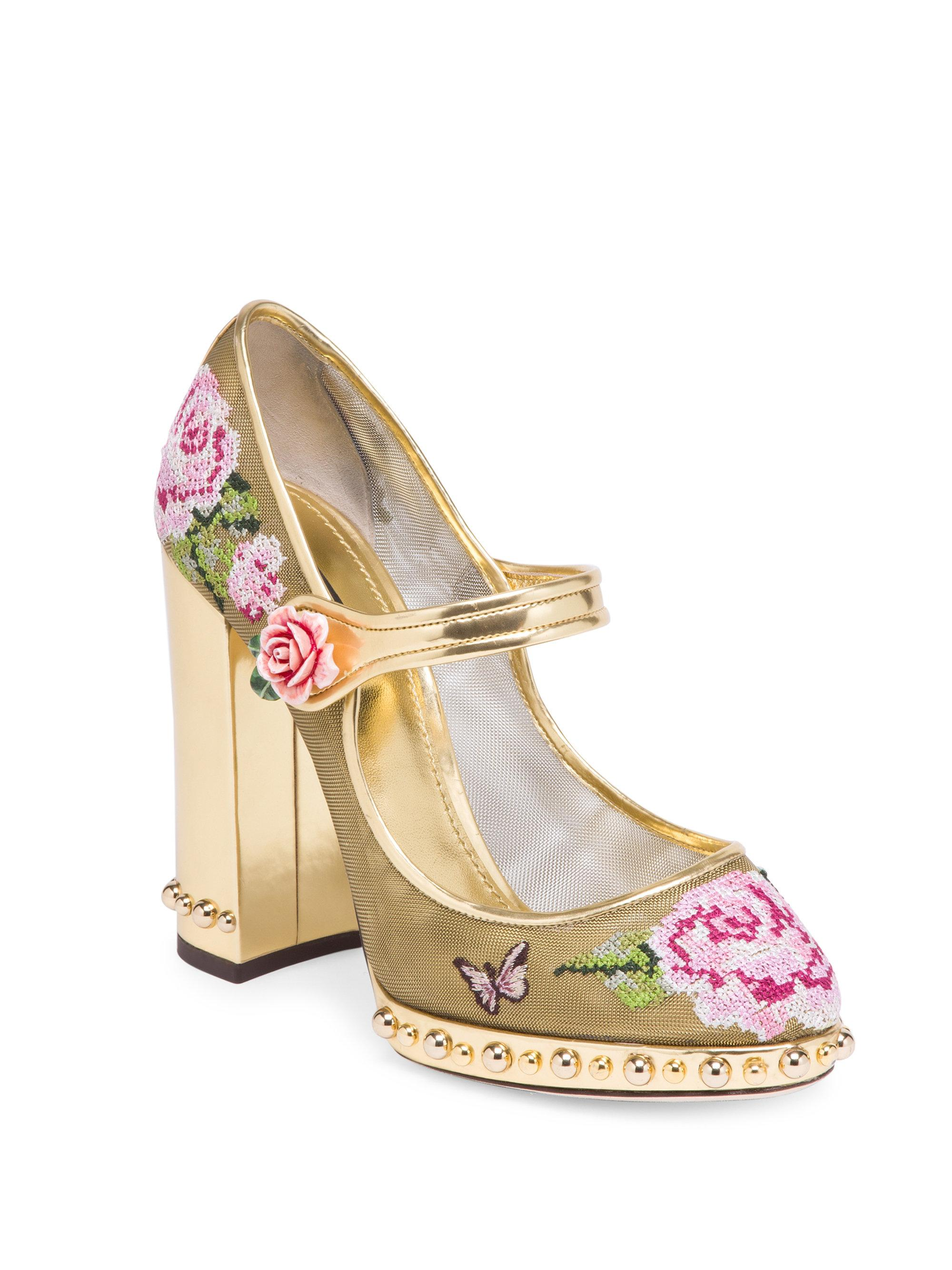 store sale online Dolce & Gabbana Woven Mary Jane Pumps cheap sale best place mqIsN1