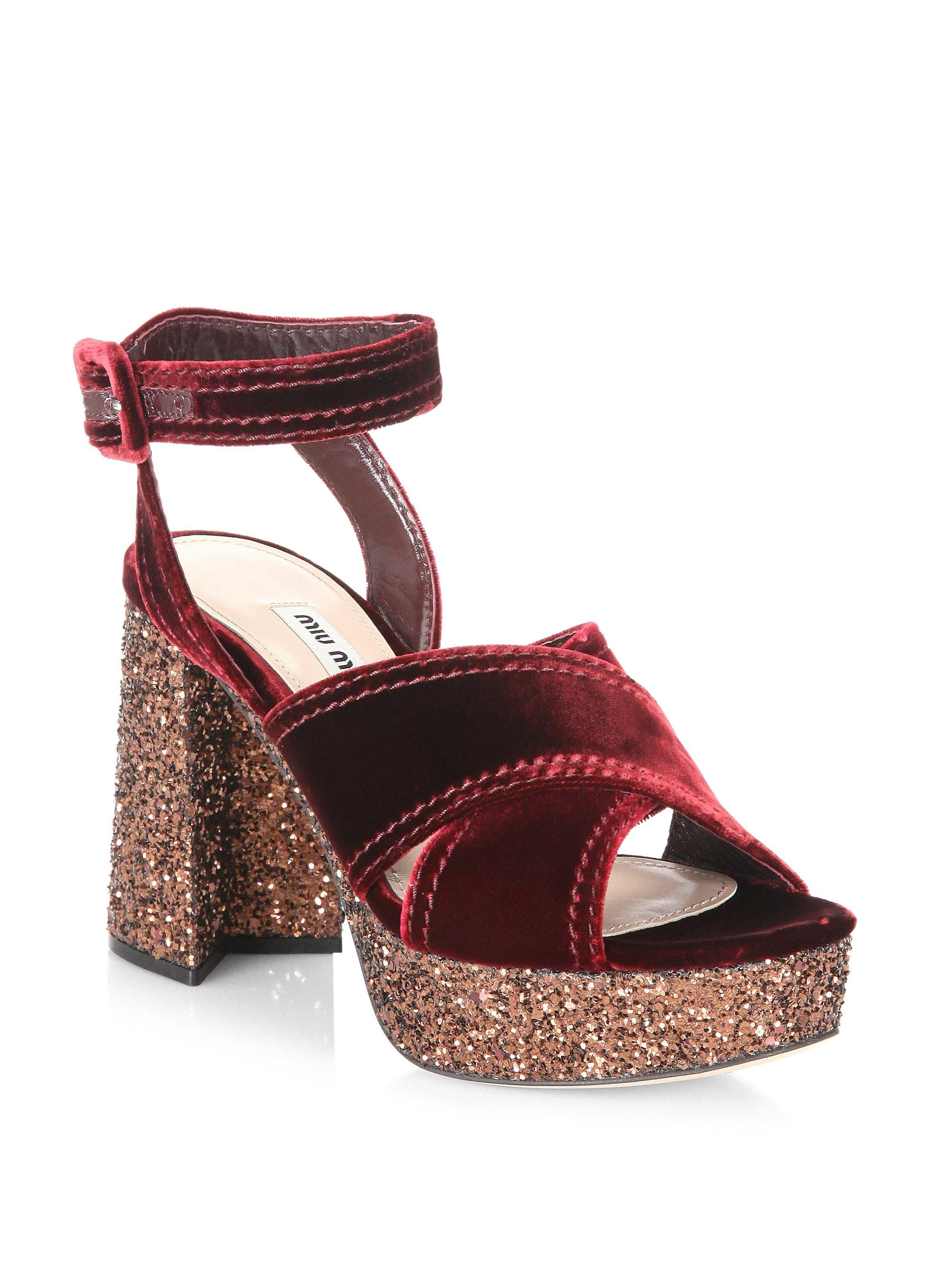 390148687a2a Gallery. Previously sold at  Saks Fifth Avenue · Women s Miu Miu Glitter ...