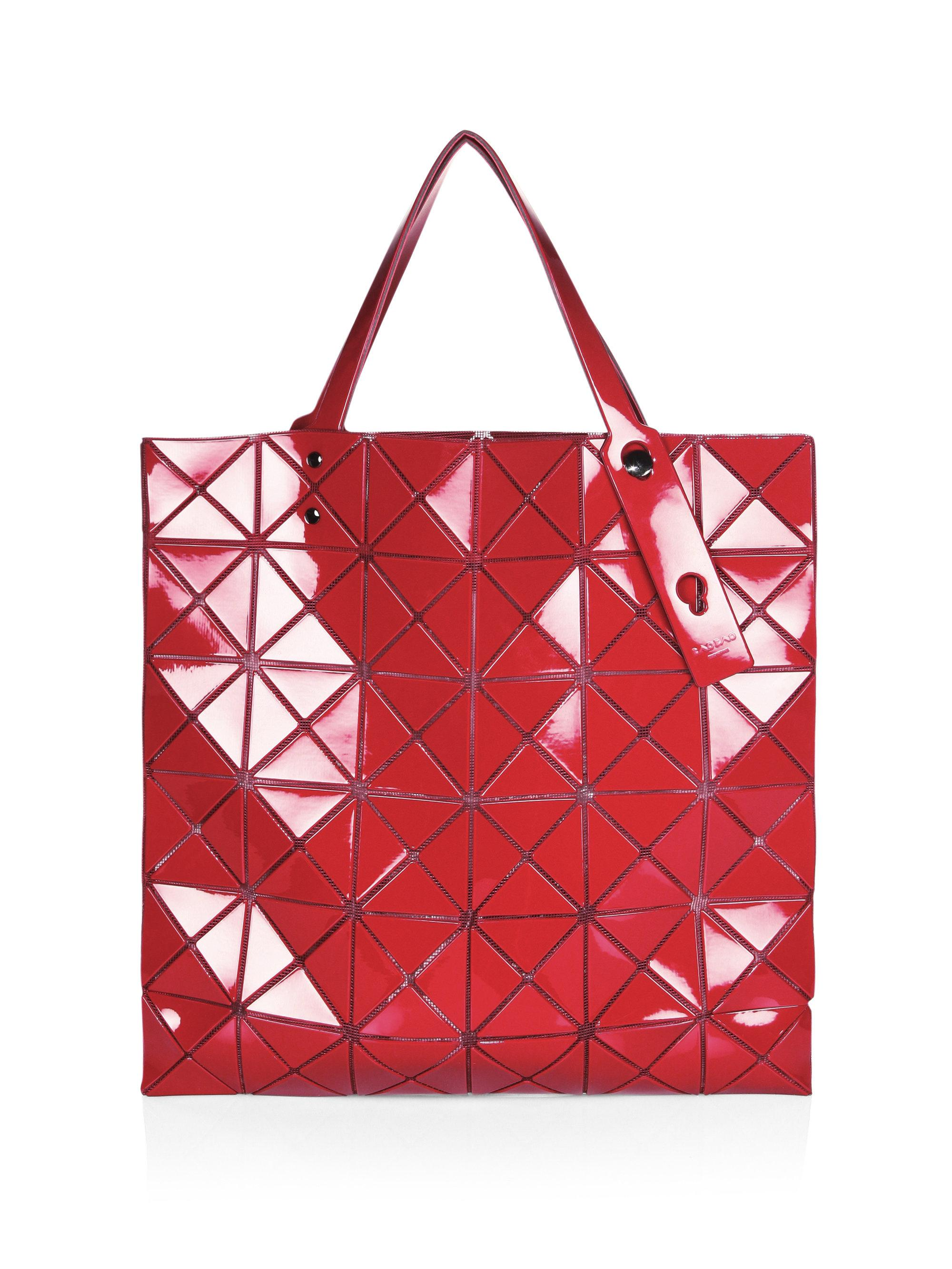 Bao Bao Issey Miyake Lucent One-tone Tote in Red - Save 42% - Lyst 1a8b6ee80a764