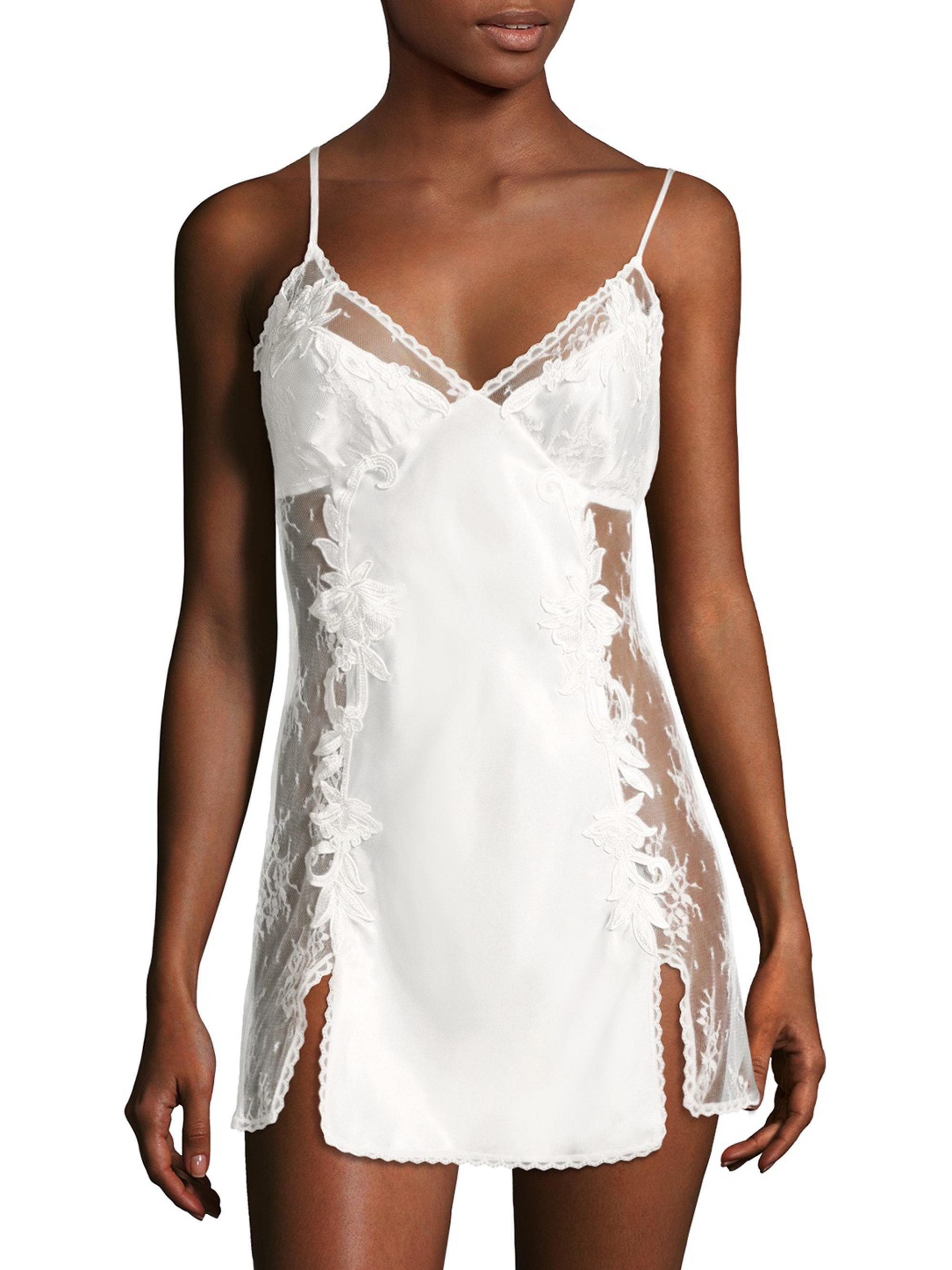 Lyst - Jonquil Lace Chemise in White ca024478d