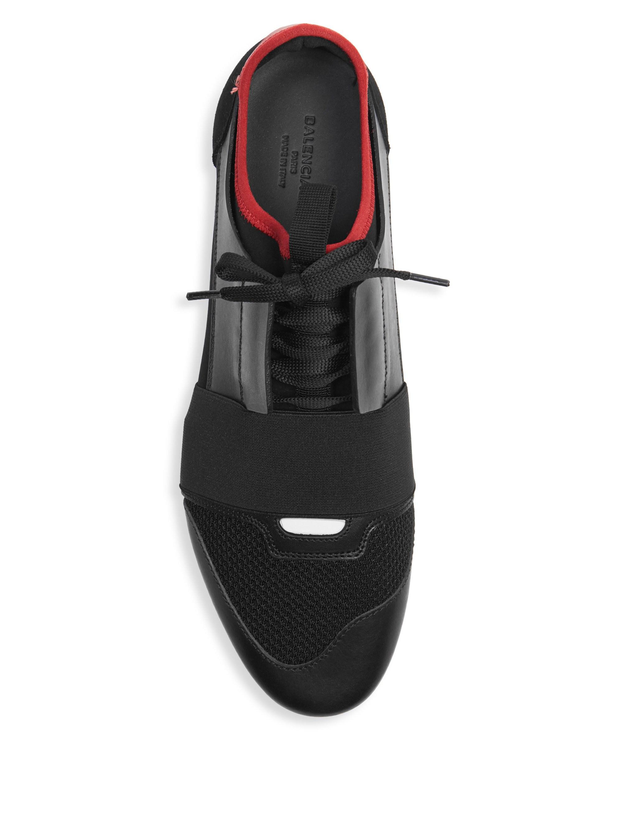 2d3cab3ba4cf Balenciaga - Black Race Runner Sneakers for Men - Lyst. View fullscreen