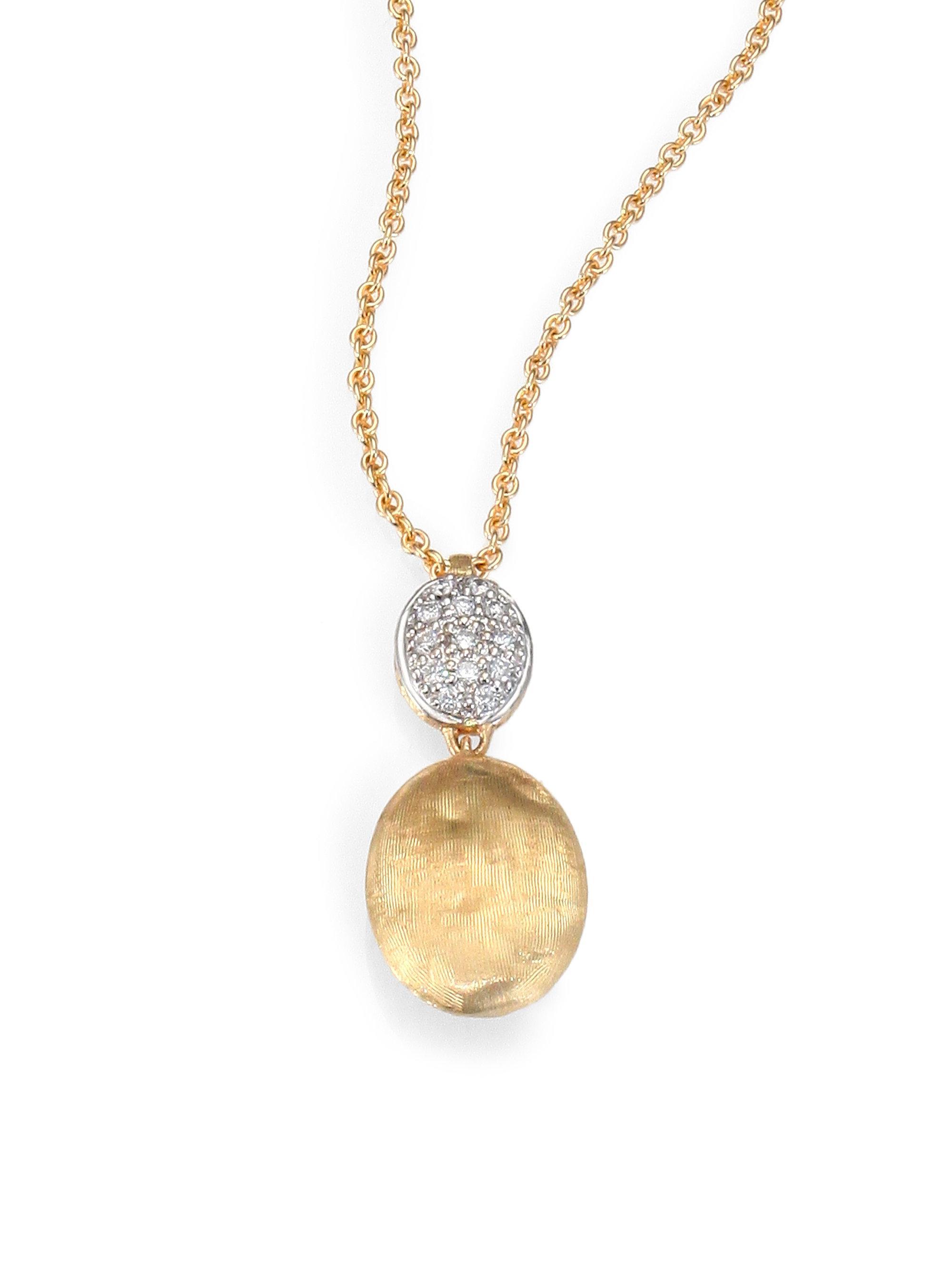 Marco Bicego Siviglia 18K Gold & Pavé Diamond Pendant Necklace Um8pj
