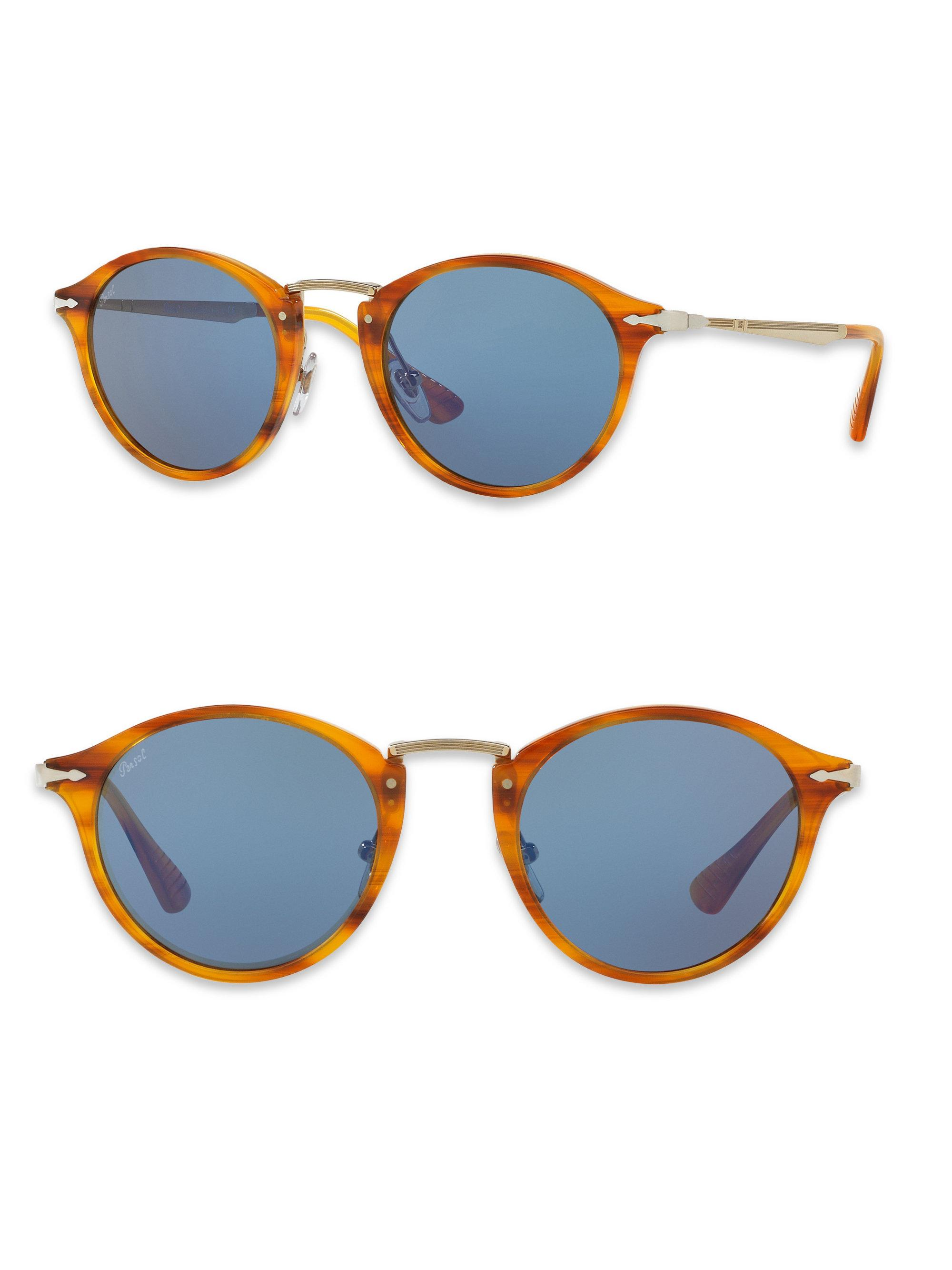 01df21730a Lyst - Persol Calligrapher 51mm Phantos Sunglasses in Blue for Men