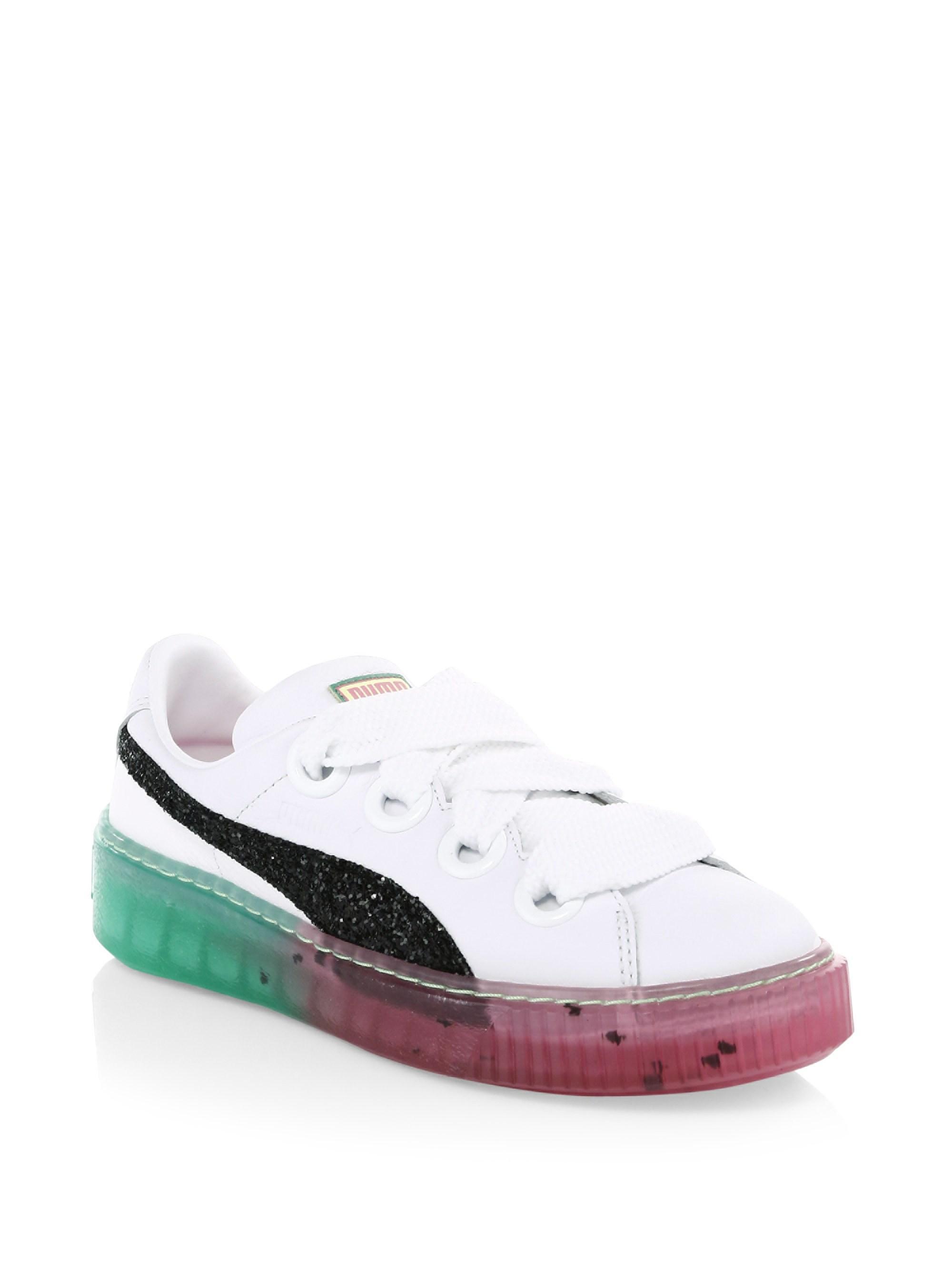 0473b3daec4 PUMA - White Candy Princess Leather Platform Sneakers - Lyst. View  fullscreen