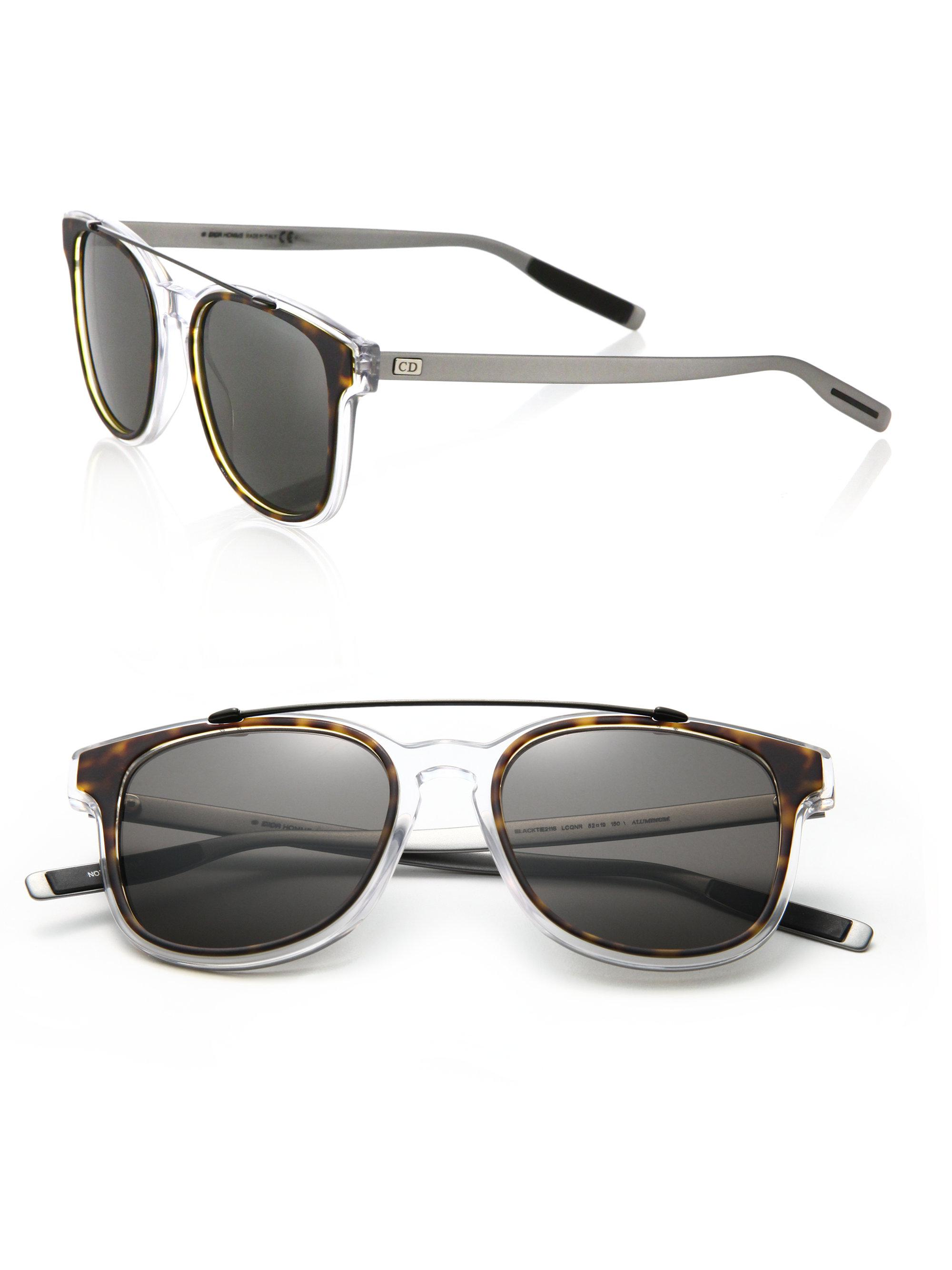 a8e8854904b82 Lyst - Dior Homme Black Tie 211s 52mm Mirror Sunglasses in Brown for Men