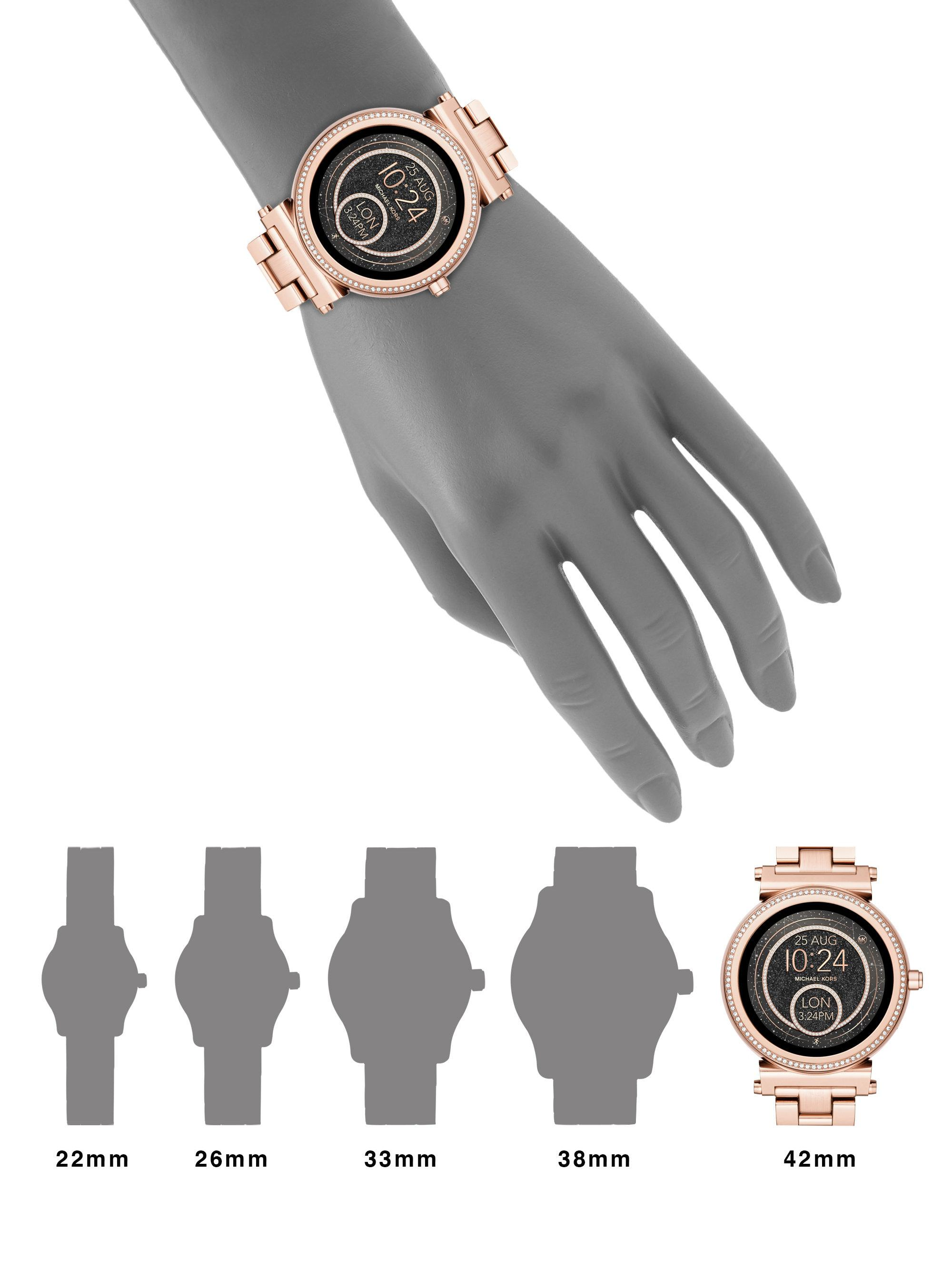 Lyst Michael Kors Access Sofie Rose Goldtone Touchscreen Bracelet