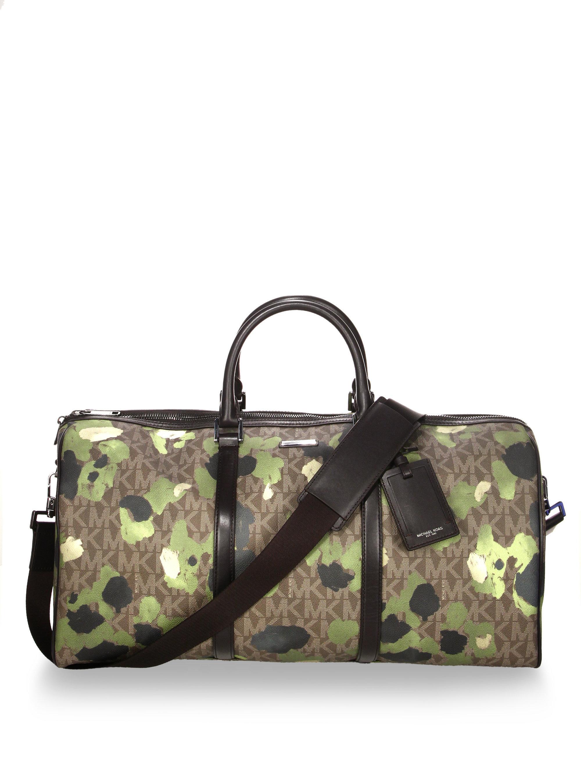 1064bac33c0 Lyst - Michael Kors Camouflage Print Large Duffle Bag for Men