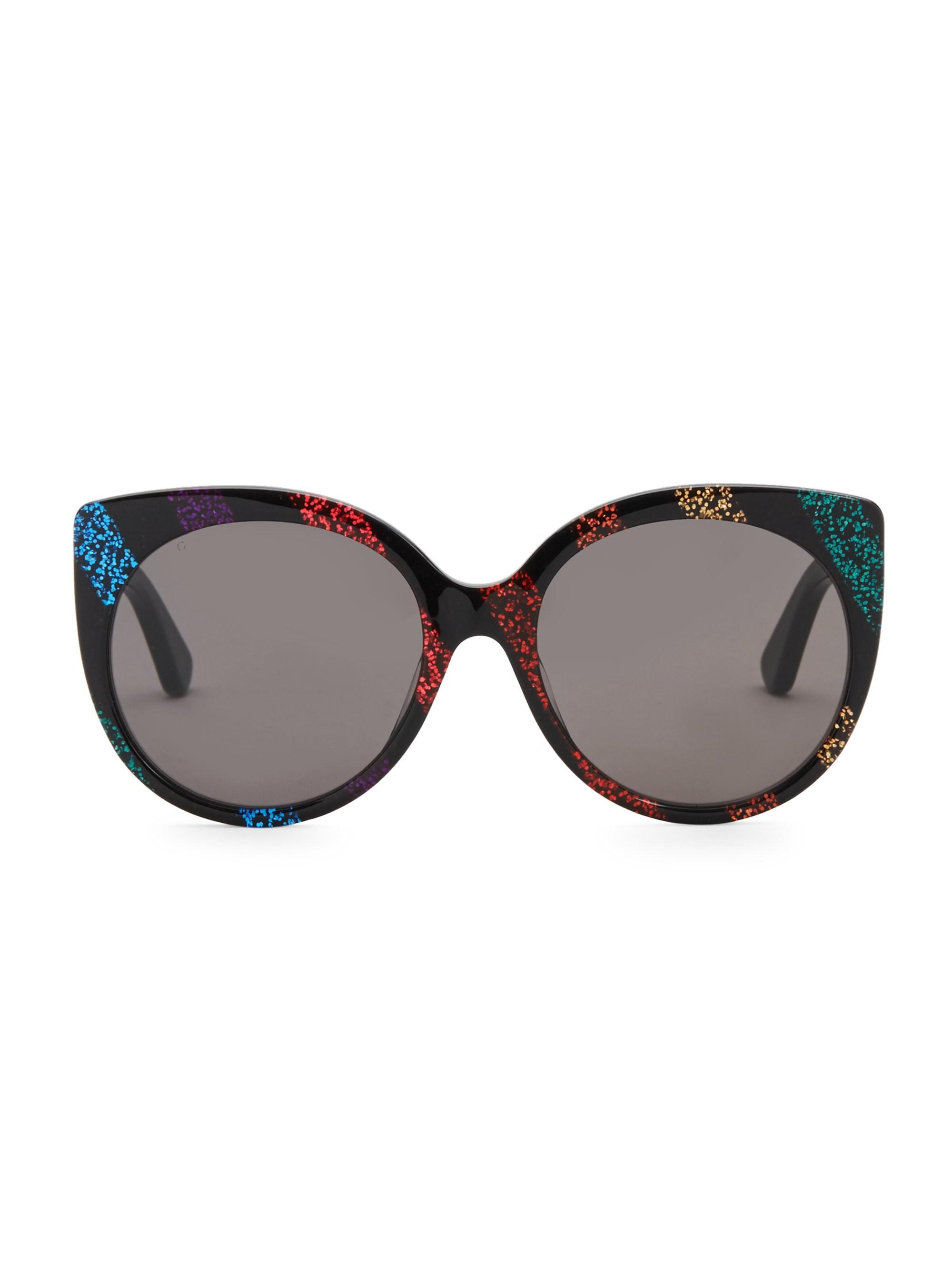 e74757ff43dd1 Gucci Women s Urban 57mm Cat Eye Sunglasses - Rainbow - Lyst