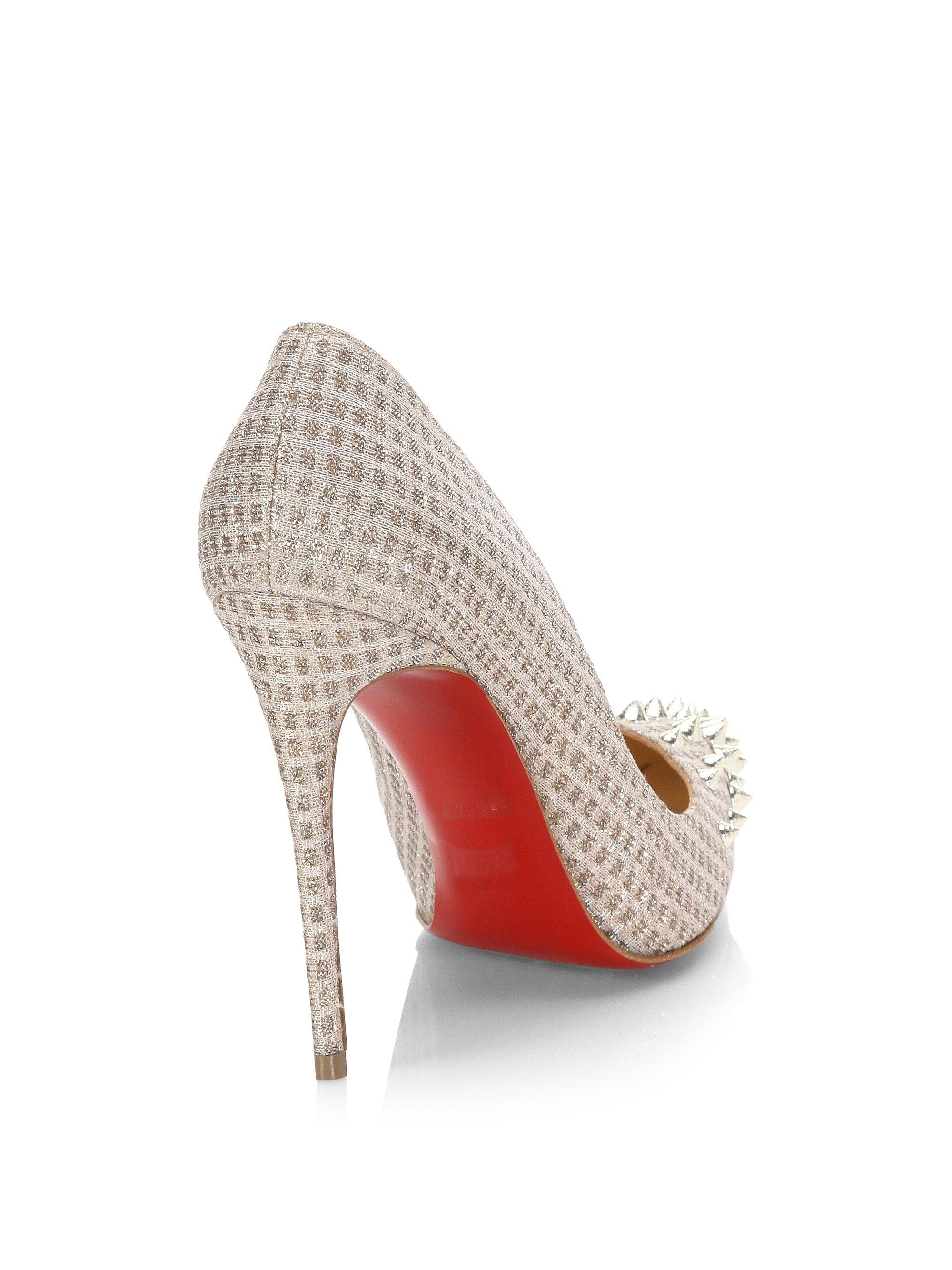 b20222ce5faf Gallery. Previously sold at  Saks Fifth Avenue · Women s Christian  Louboutin Spike ...