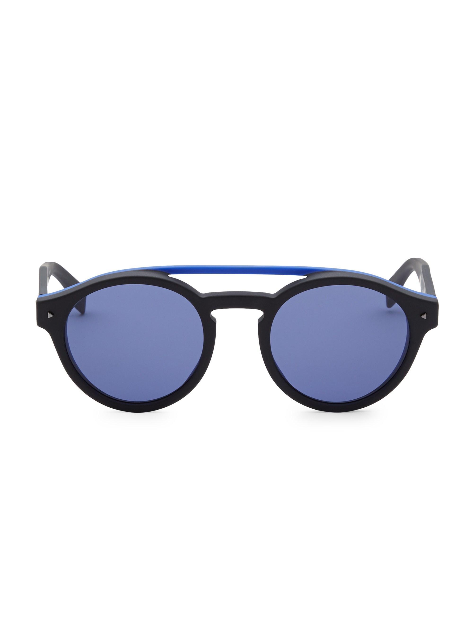 2f2c1637f91 Fendi. Men s Black 51mm Round Sunglasses.  350 From Saks Fifth Avenue