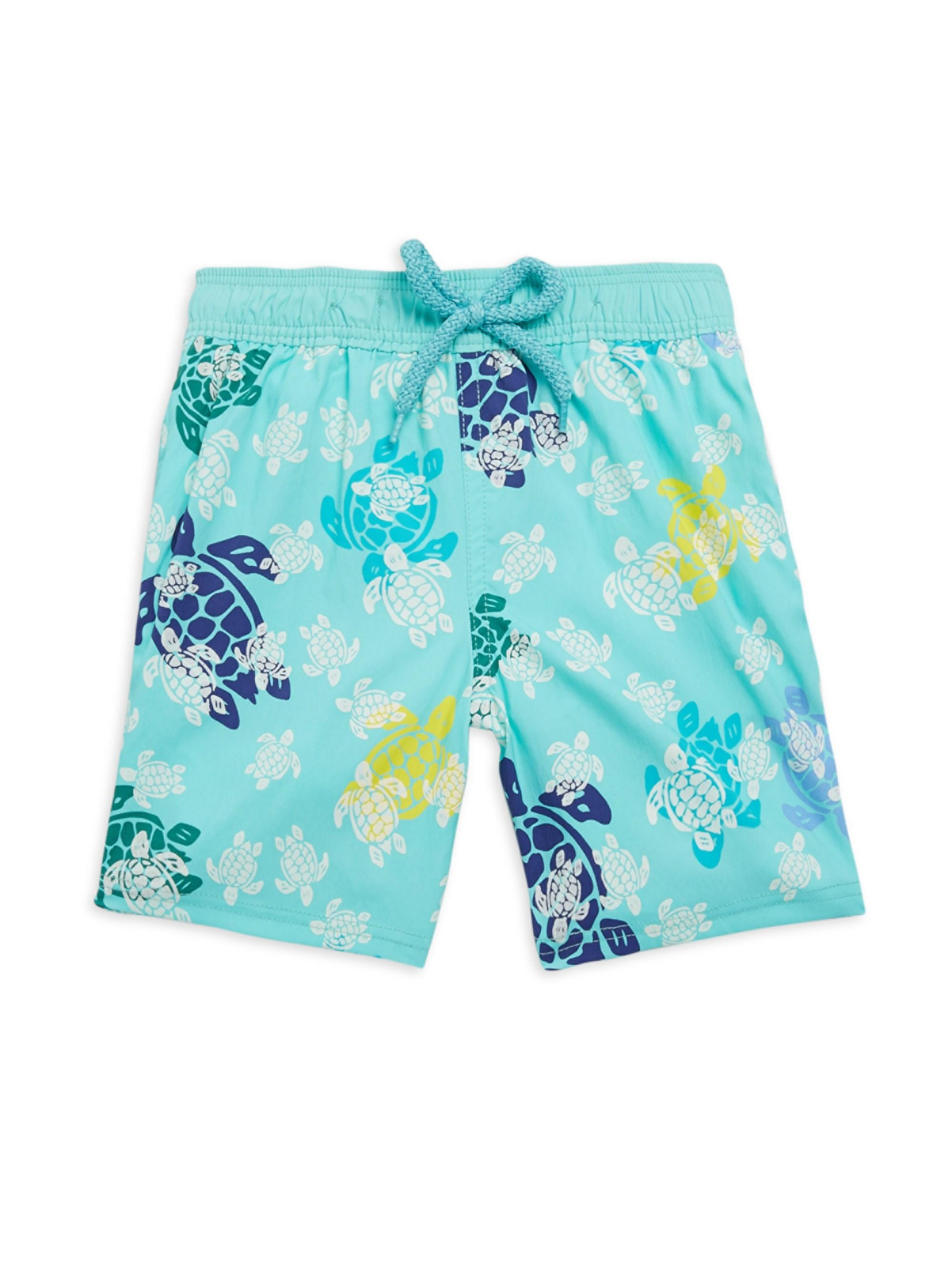 3c56f70572 Vilebrequin. Men's Blue Little Boy's & Boy's Turtle Dance Swim Shorts