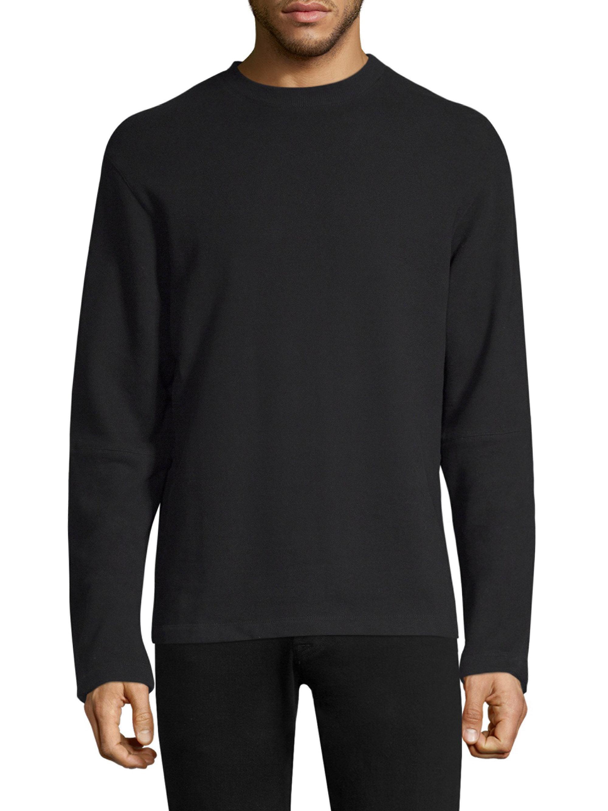 ribbed detail sweatshirt - Black Helmut Lang Outlet Pictures Cheap Discount View Sale Online G2lTKGA1r