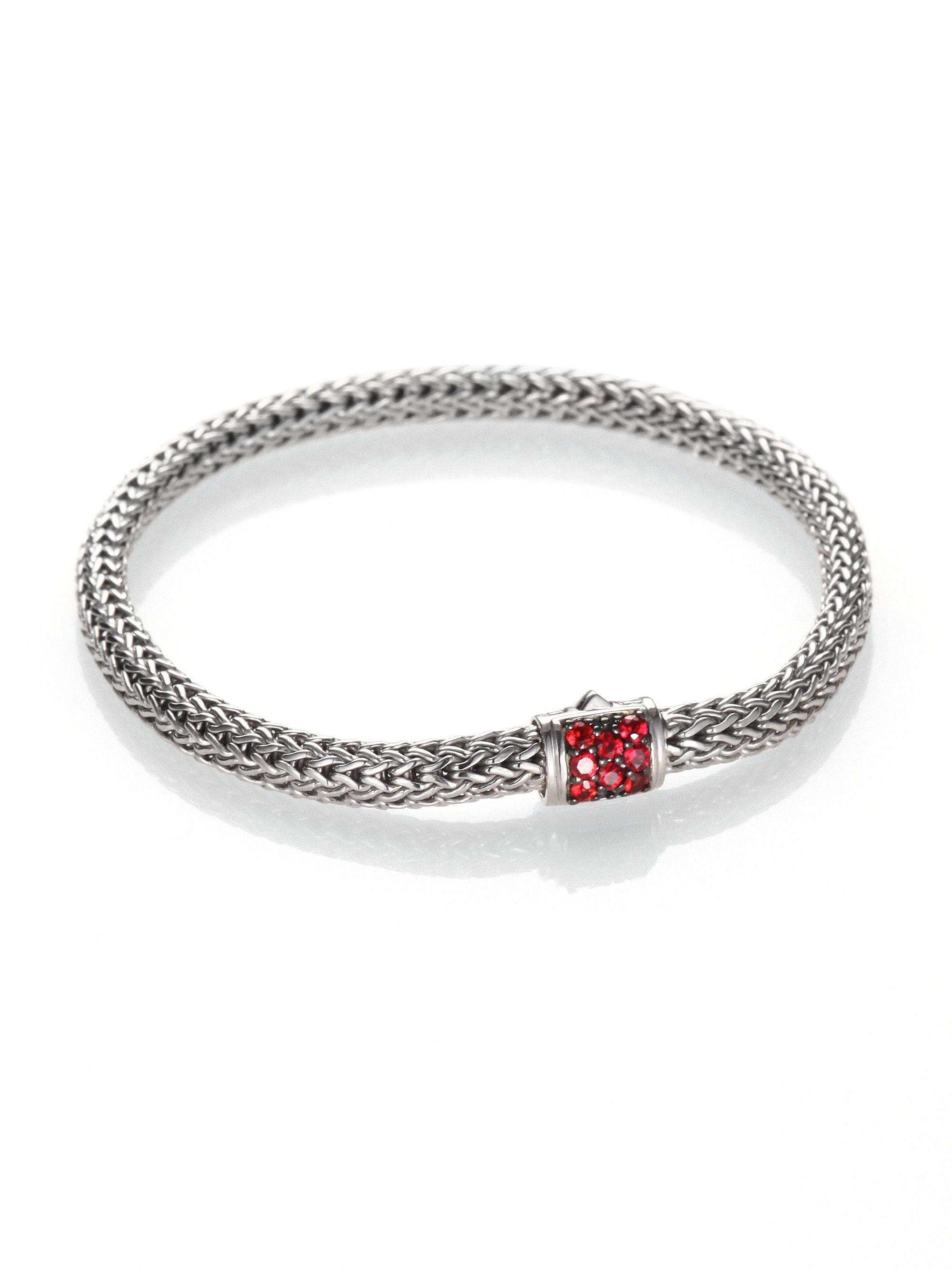 John Hardy Classic Chain Extra Small Red Sapphire Bracelet BSDOH