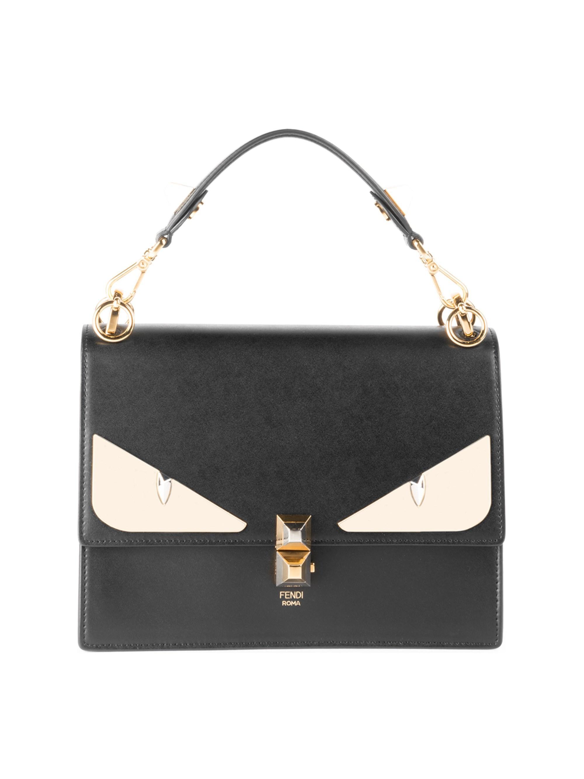 838506f04b25 Fendi Women s Kan I Monster Eye Black Shoulder Bag - Black in Black ...