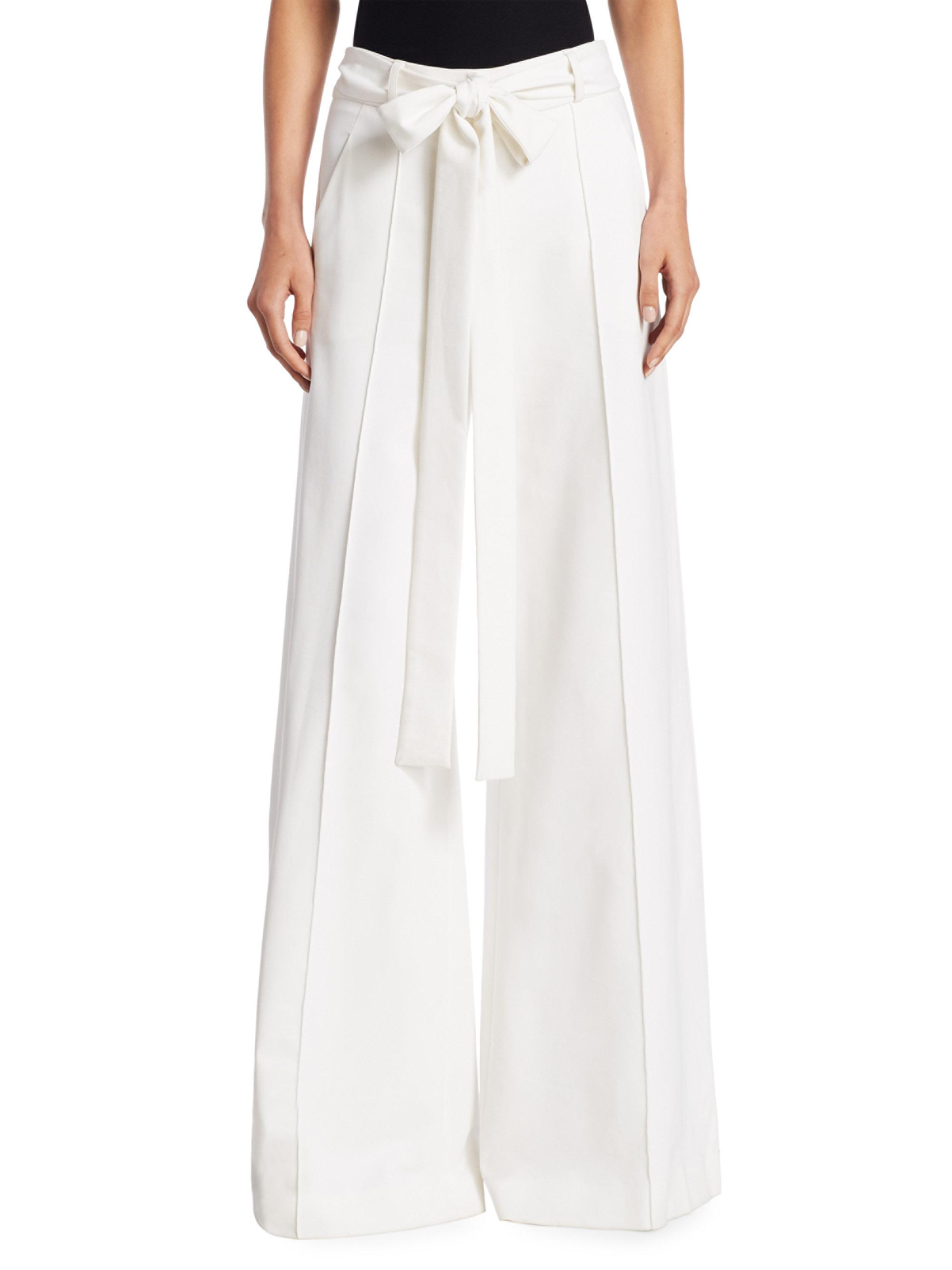 Wide leg trousers - White Carolina Herrera 7v6aWZ